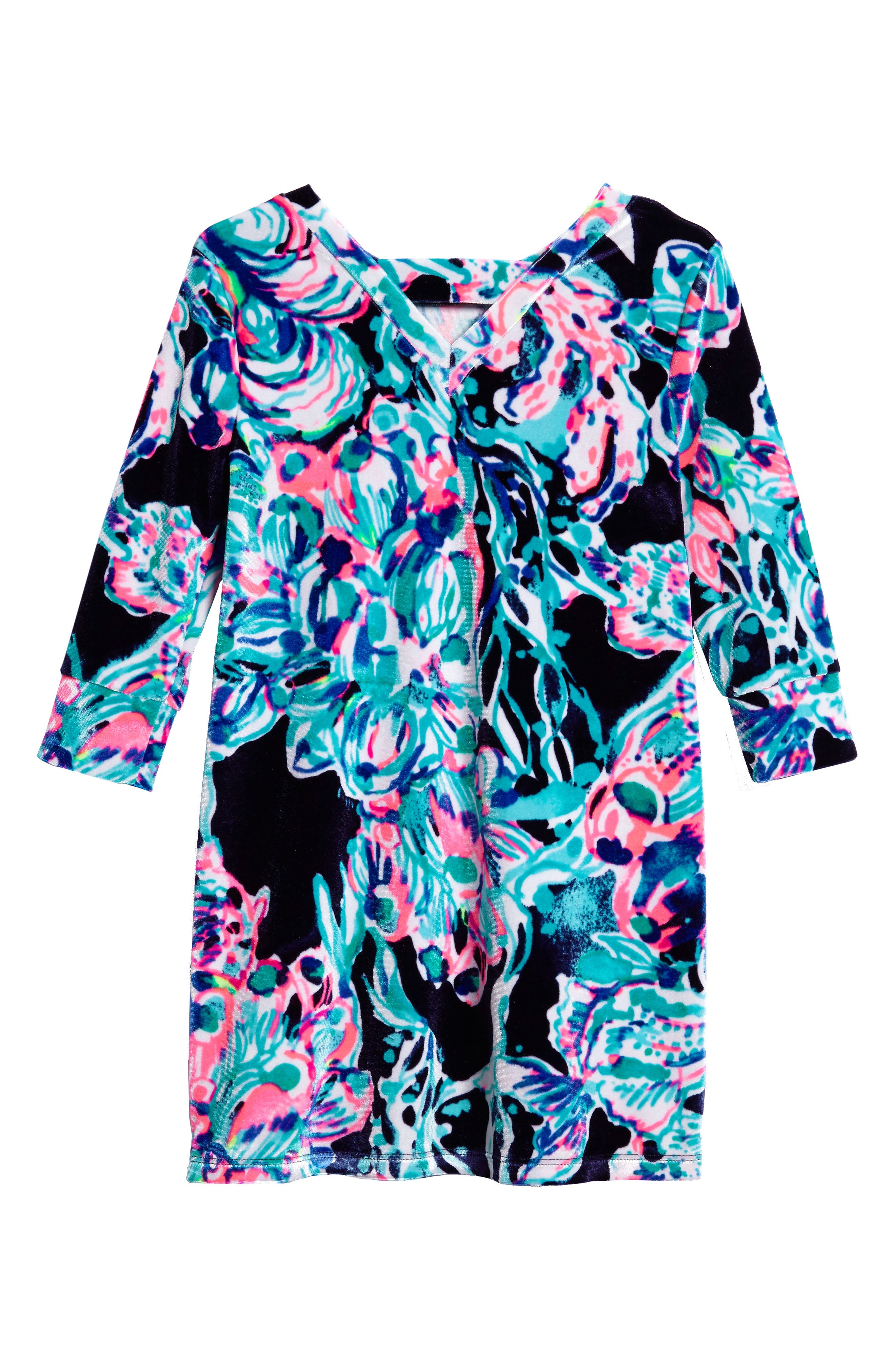 Mini Olive Velour Dress,                             Alternate thumbnail 2, color,                             410