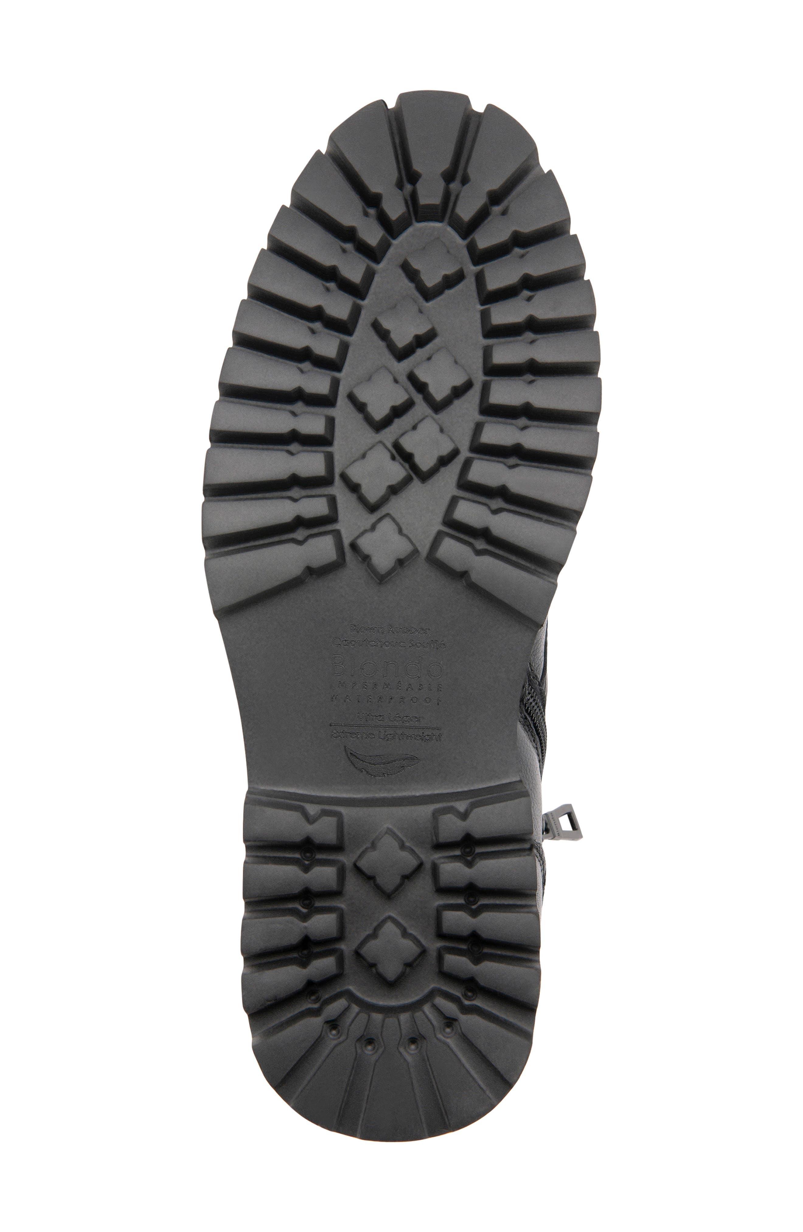 BLONDO,                             Max Chukka Waterproof Boot,                             Alternate thumbnail 5, color,                             BLACK LEATHER