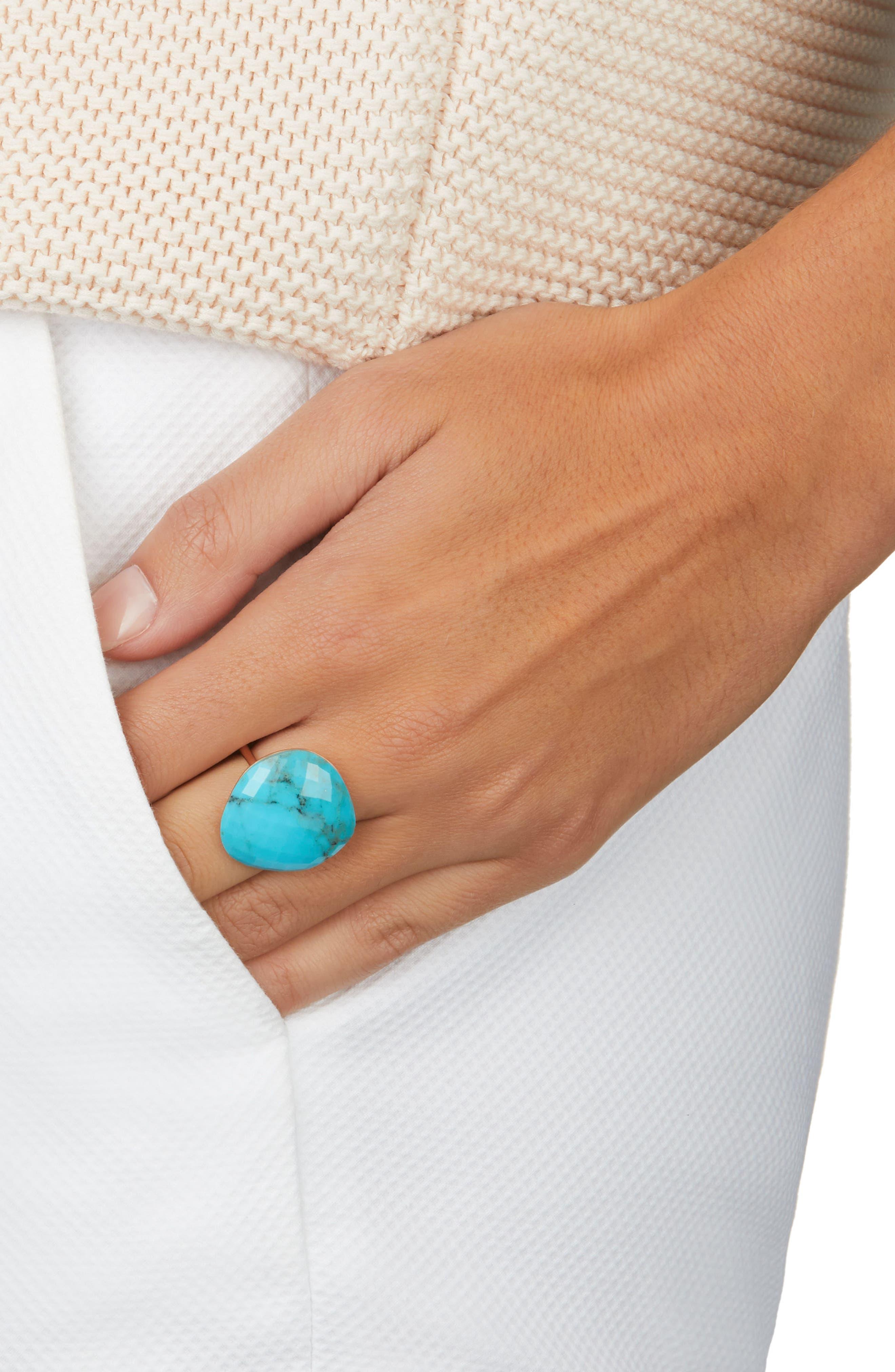 Nura Large Pebble Ring,                             Alternate thumbnail 2, color,                             TURQUOISE