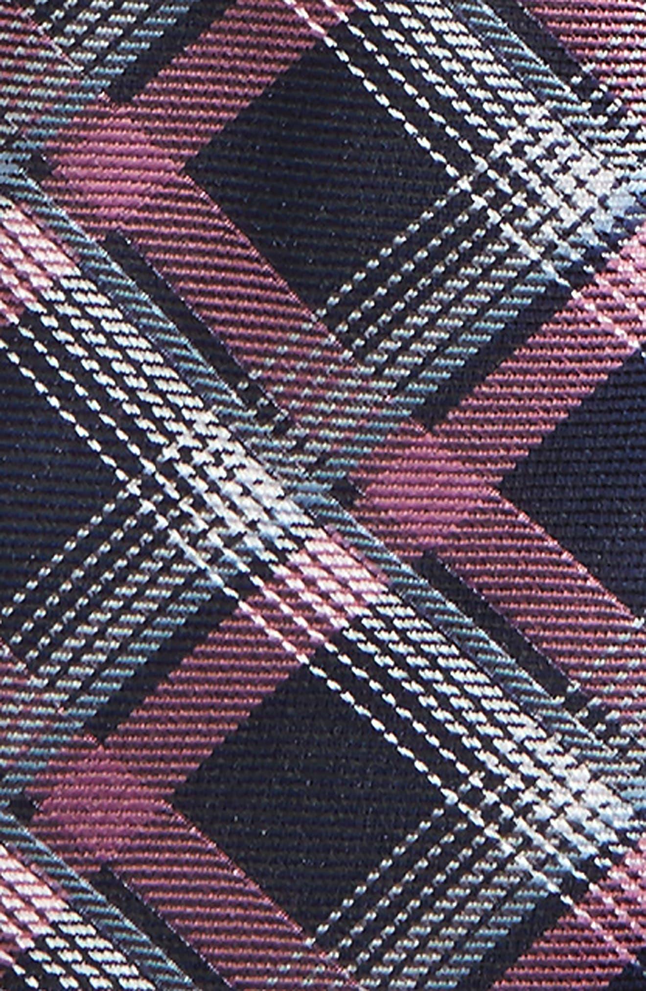 Plaid Silk Zip Tie,                             Alternate thumbnail 14, color,