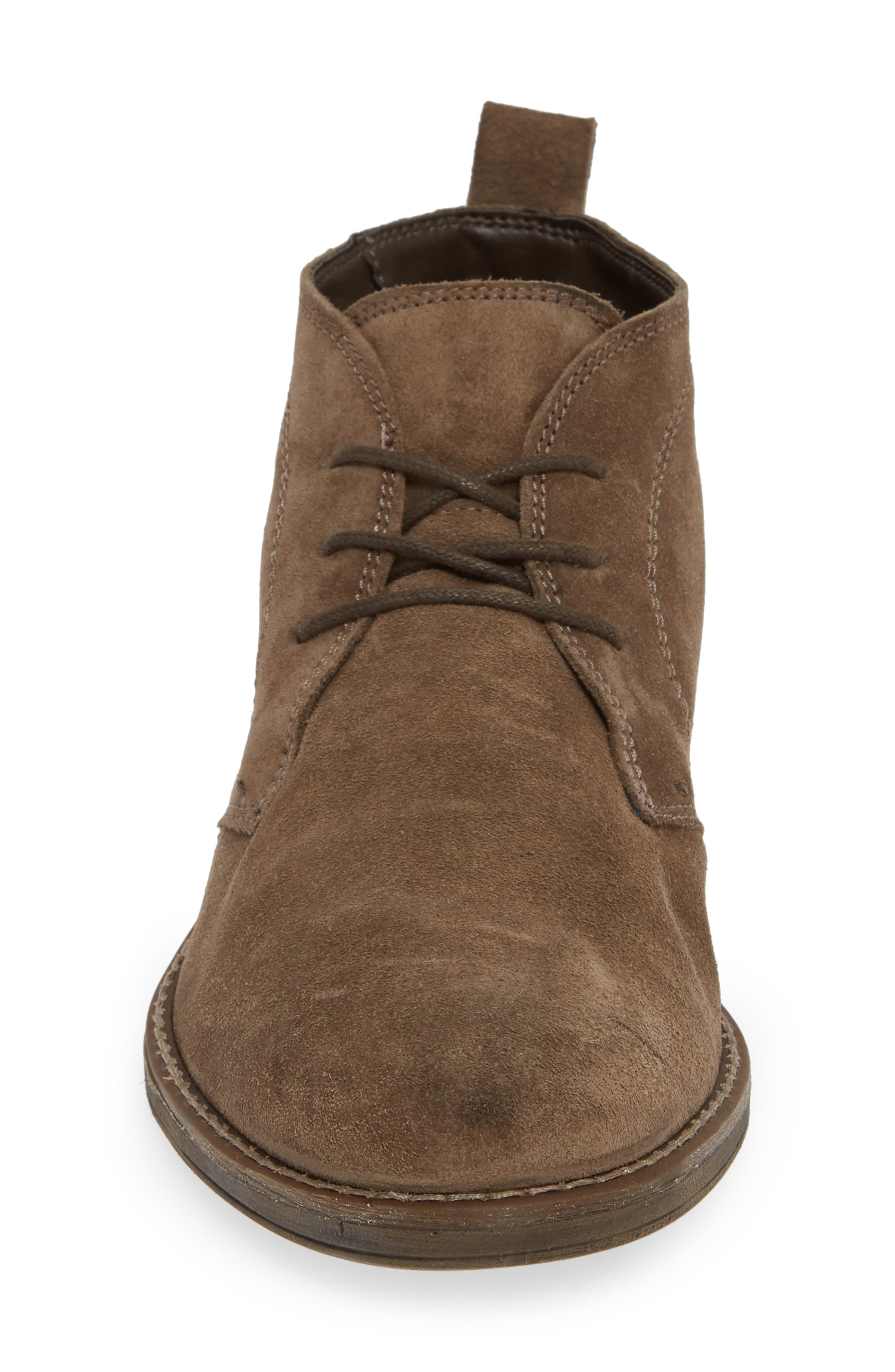 Stevens Waterproof Chukka Boot,                             Alternate thumbnail 4, color,                             TAUPE SUEDE