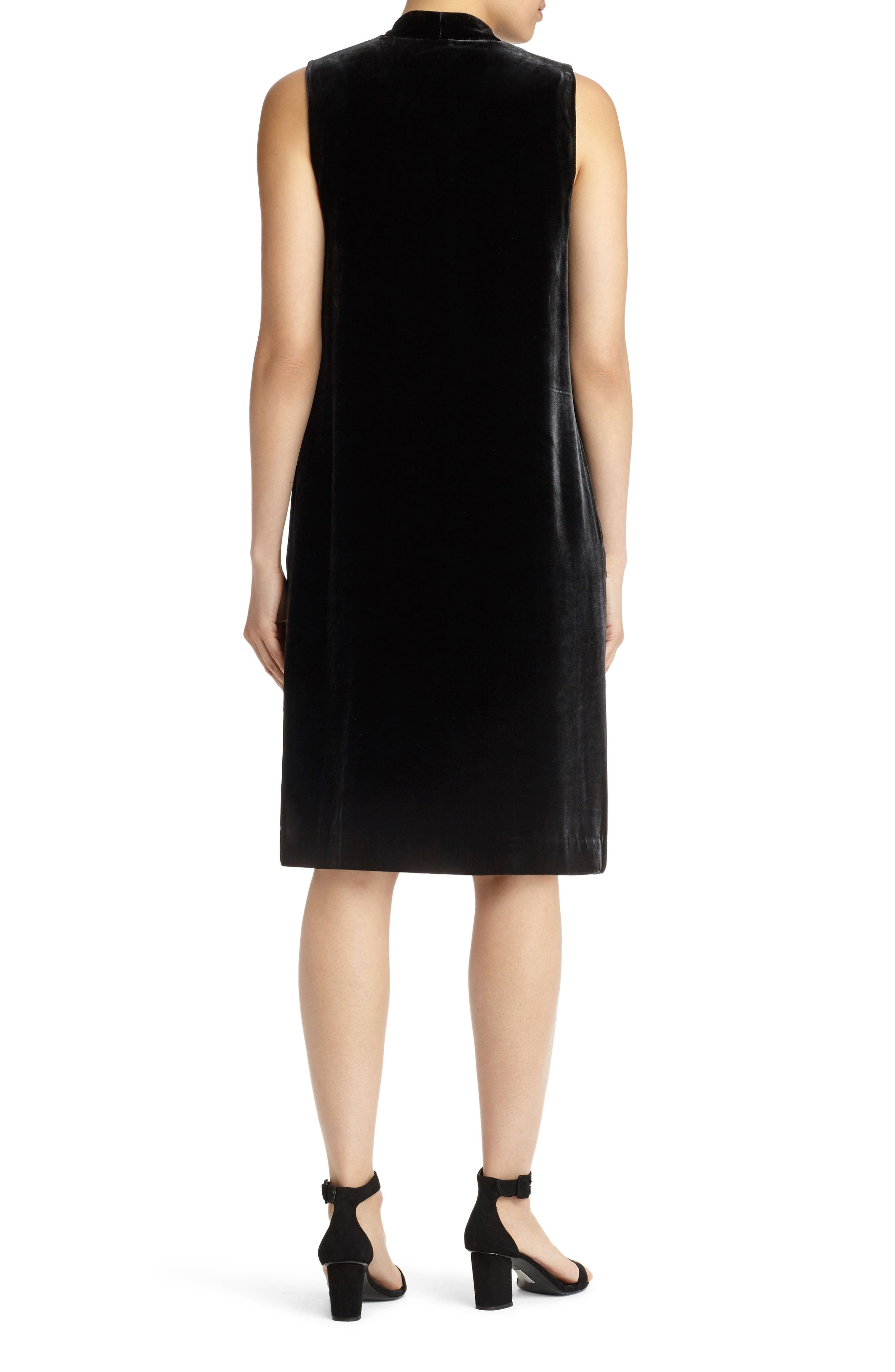 Ronan Velvet Dress,                             Alternate thumbnail 3, color,