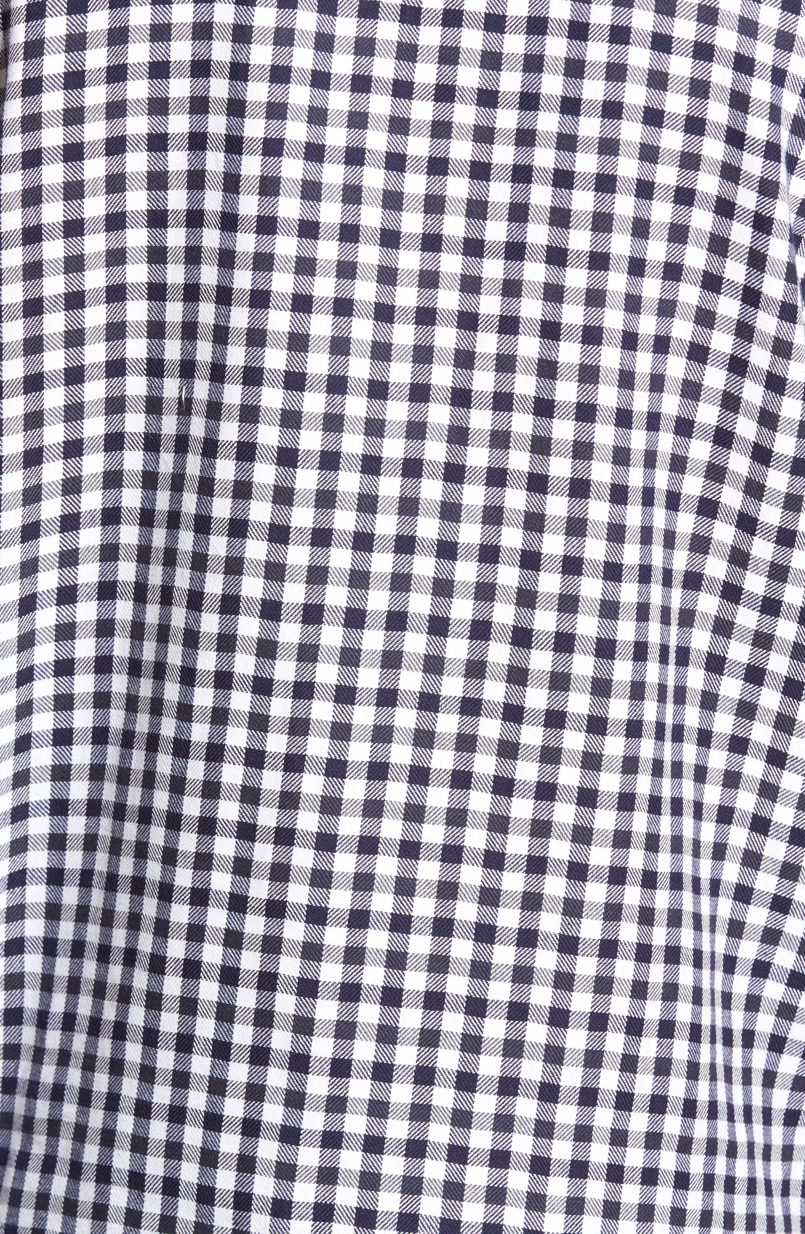 Lifeline Herringbone Gingham Sport Shirt,                             Alternate thumbnail 5, color,