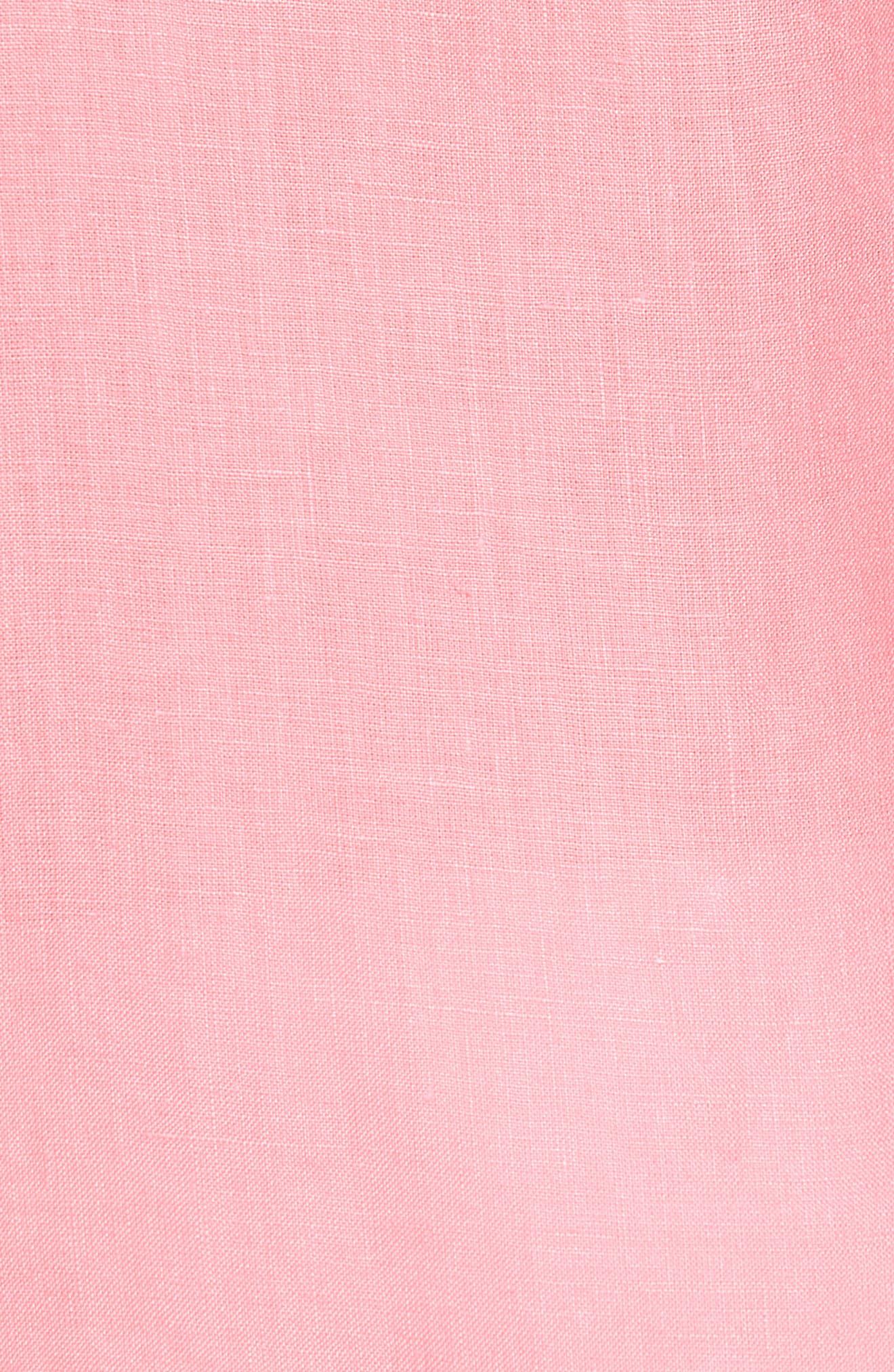 Caroubie Regular Fit Linen Sport Shirt,                             Alternate thumbnail 5, color,                             LOTUS