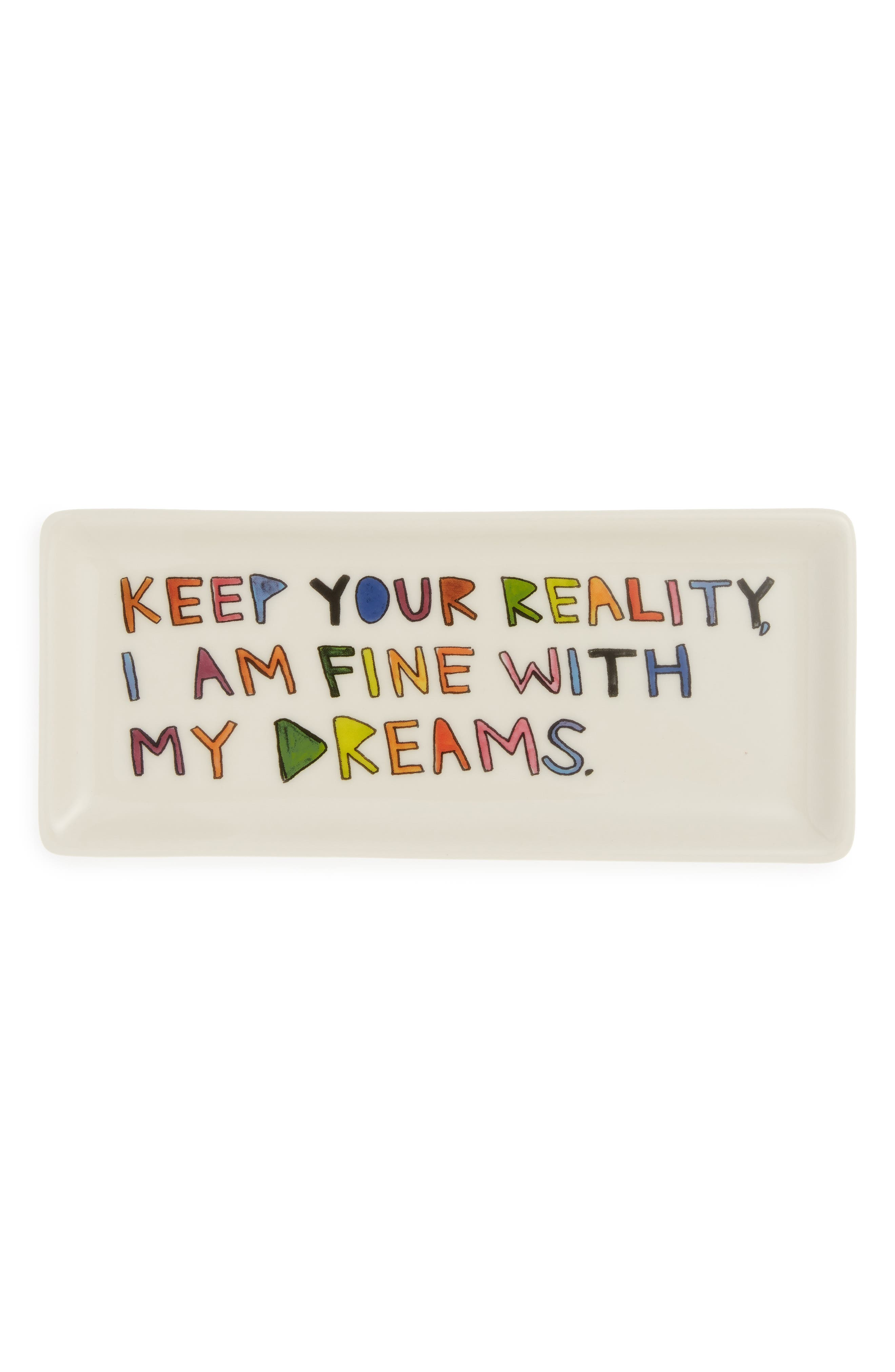 Keep Your Reality Tray,                             Main thumbnail 1, color,                             WHITE