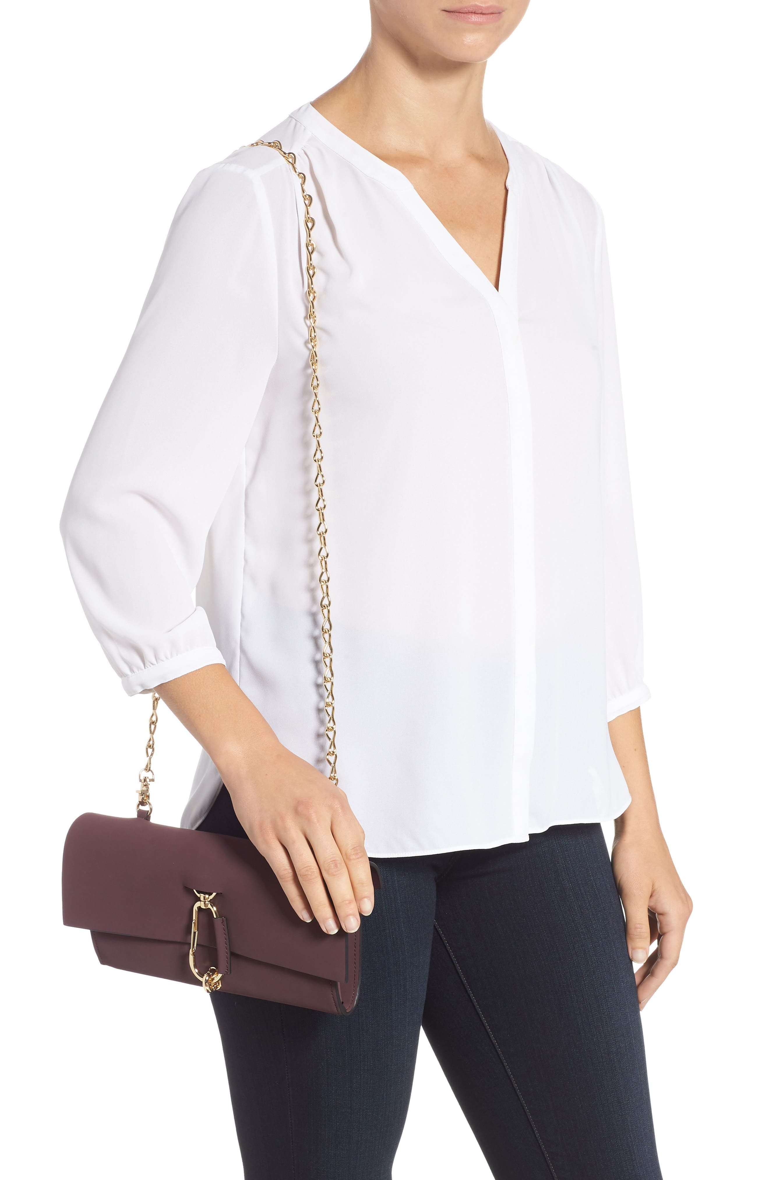 Belay Convertible Leather Clutch,                             Alternate thumbnail 2, color,                             VINEYARD