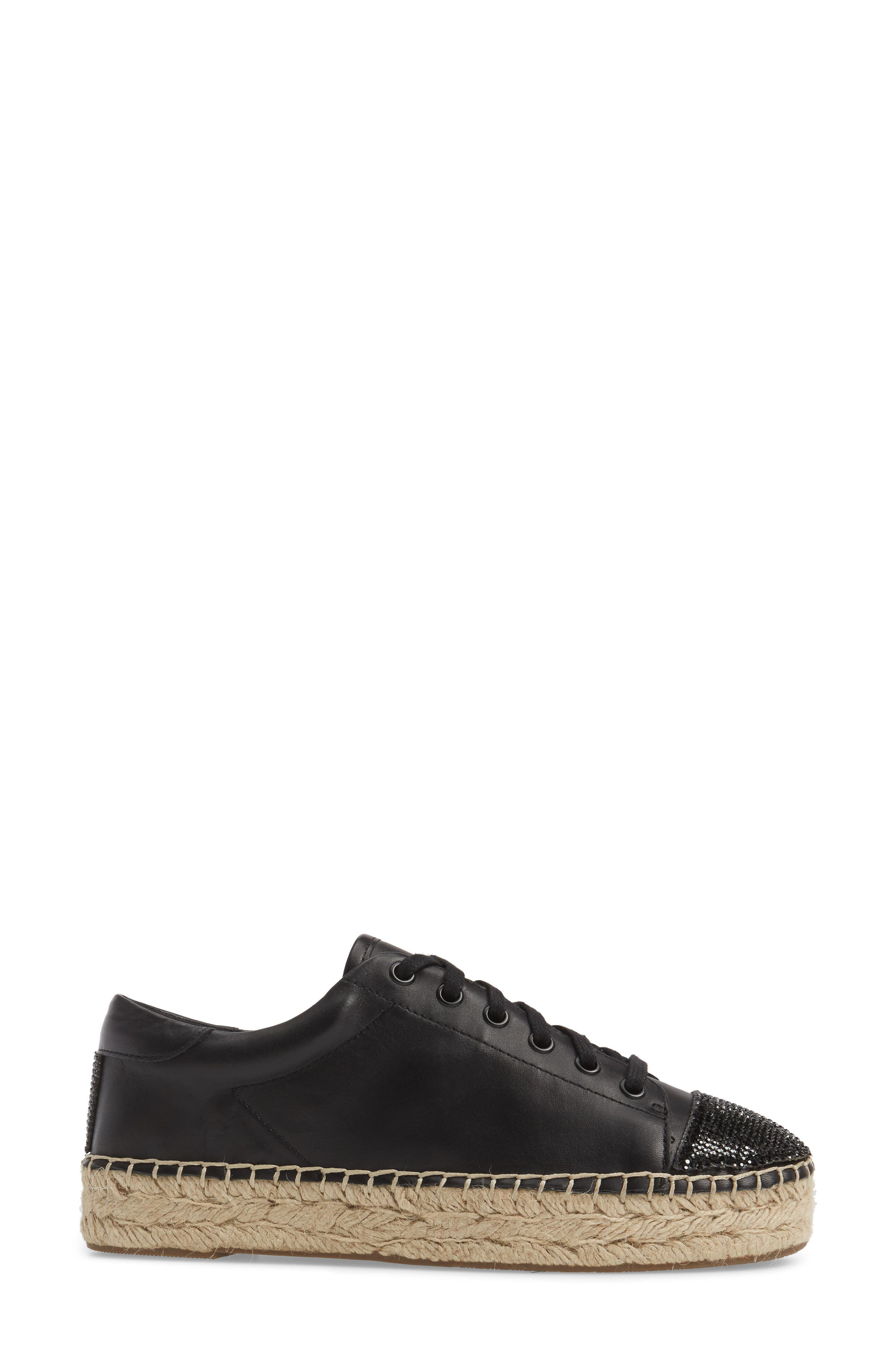 Joslyn Espadrille Sneaker,                             Alternate thumbnail 3, color,                             001