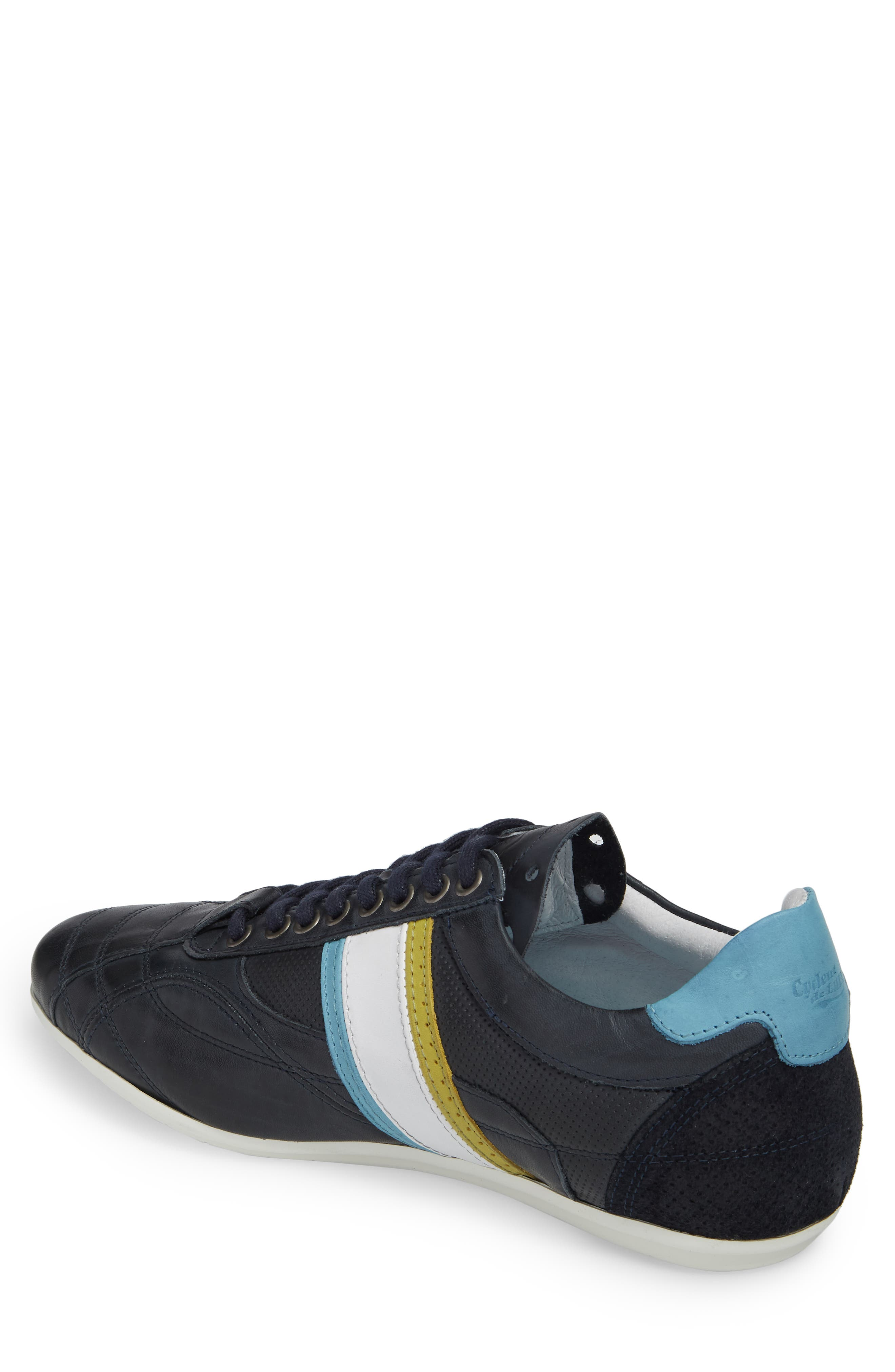 Crush City Low Top Sneaker,                             Alternate thumbnail 2, color,                             NAVY LEATHER