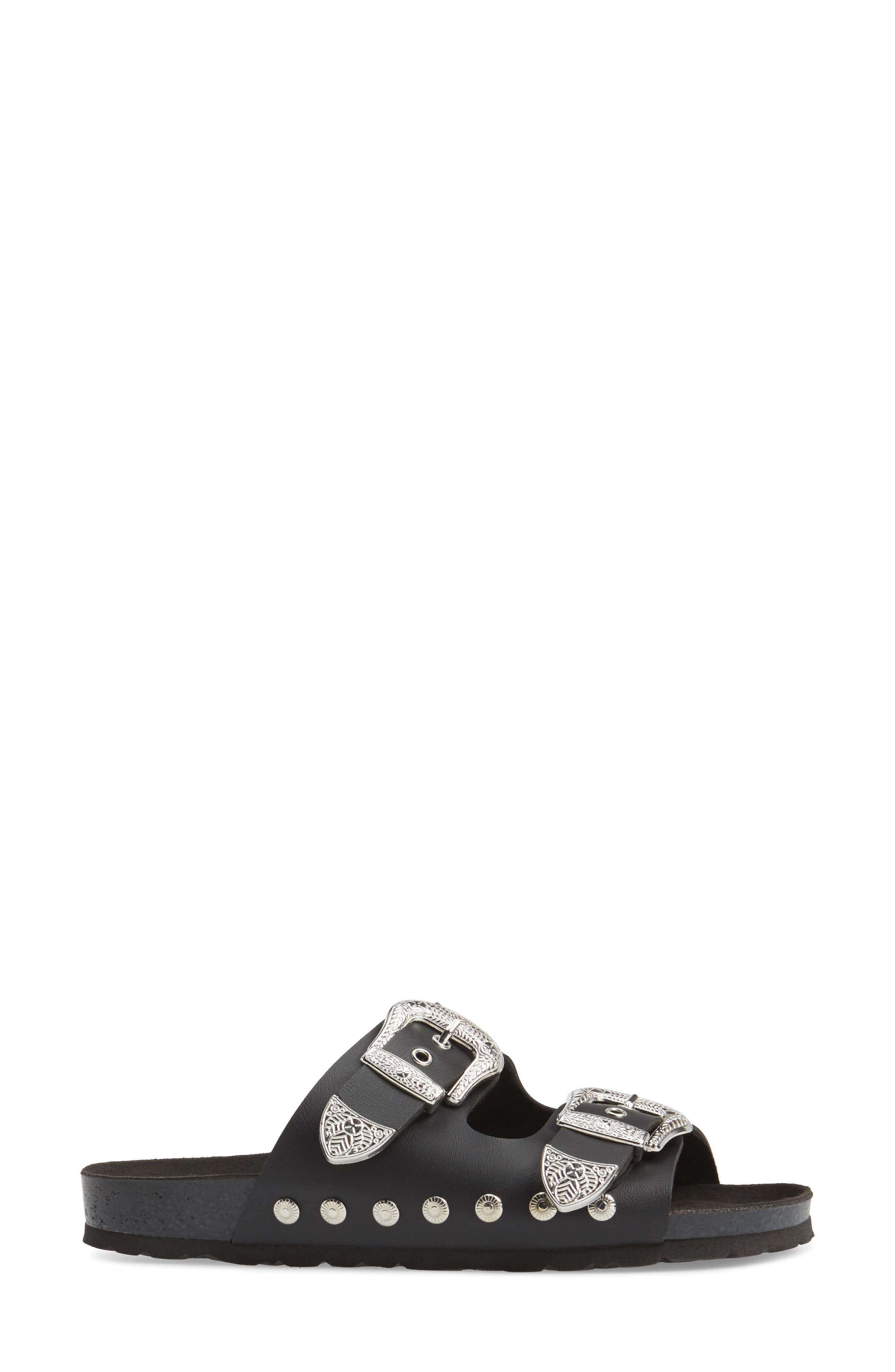 Studded Slide Sandal,                             Alternate thumbnail 16, color,