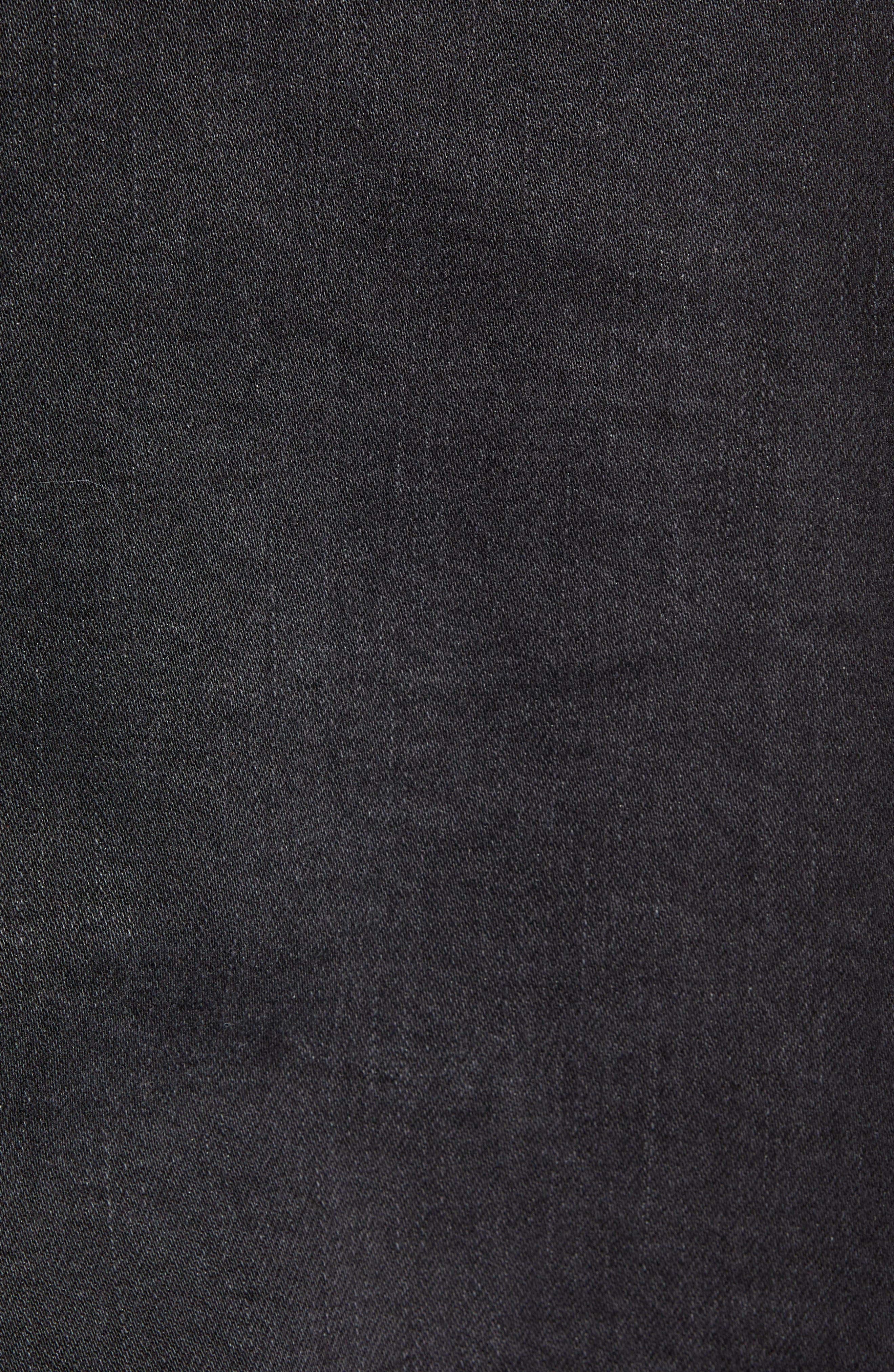 Cobra Ripped Denim Skirt,                             Alternate thumbnail 6, color,                             BLACK