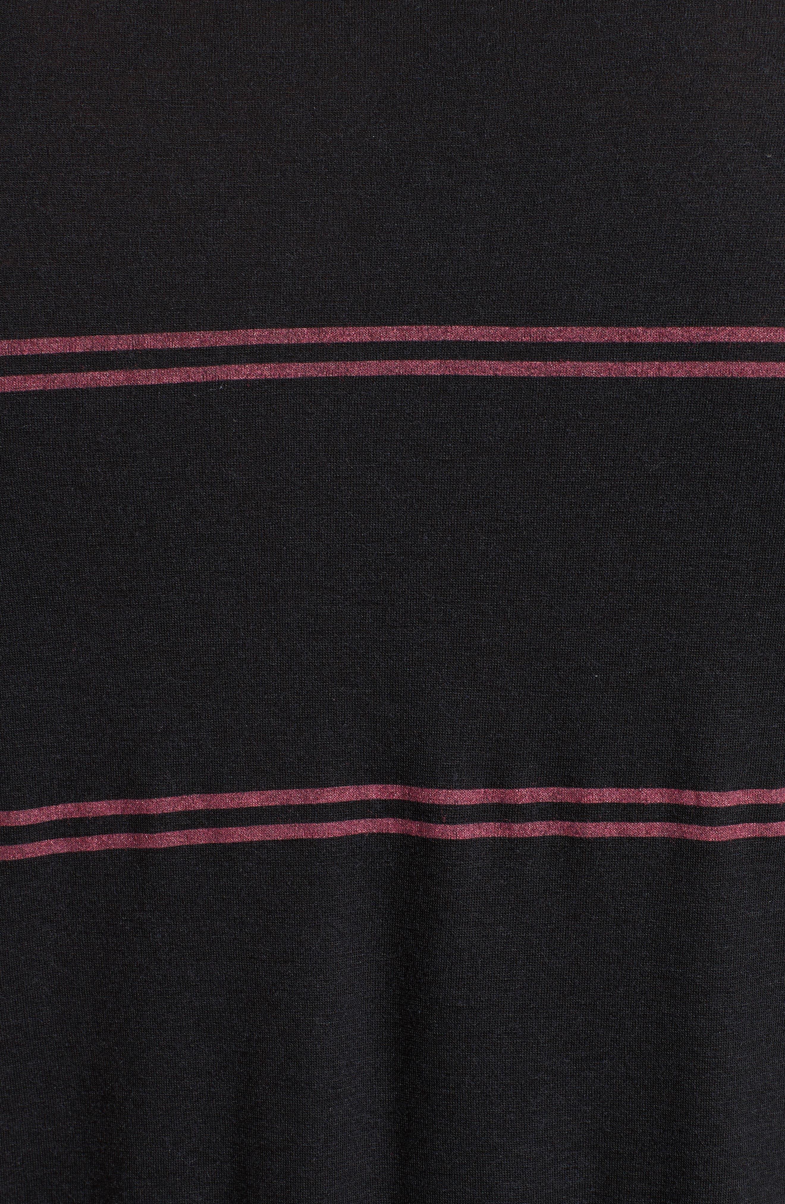 Stripe T-Shirt,                             Alternate thumbnail 5, color,                             001