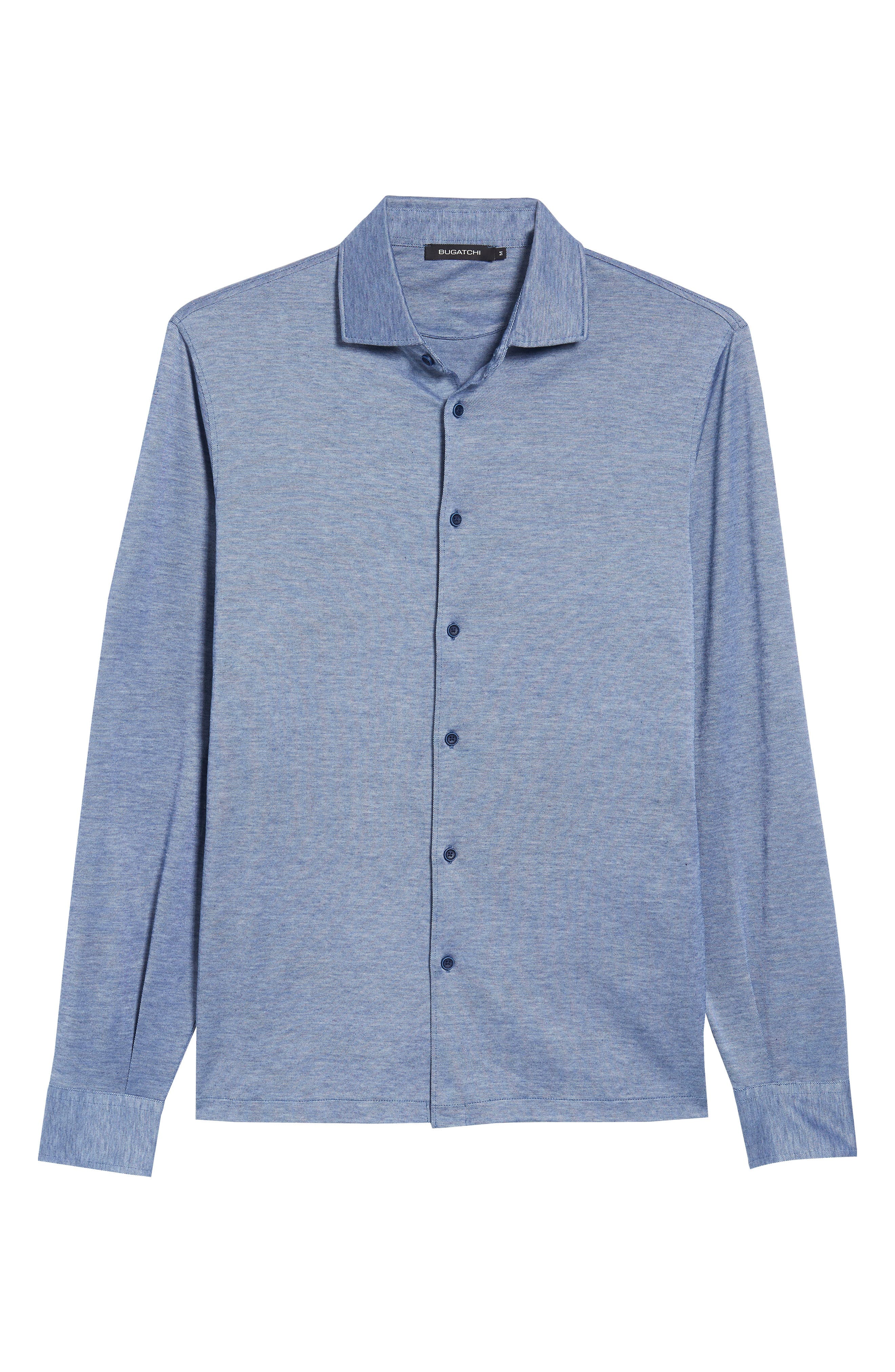 Regular Fit Silk Blend Sport Shirt,                             Alternate thumbnail 28, color,