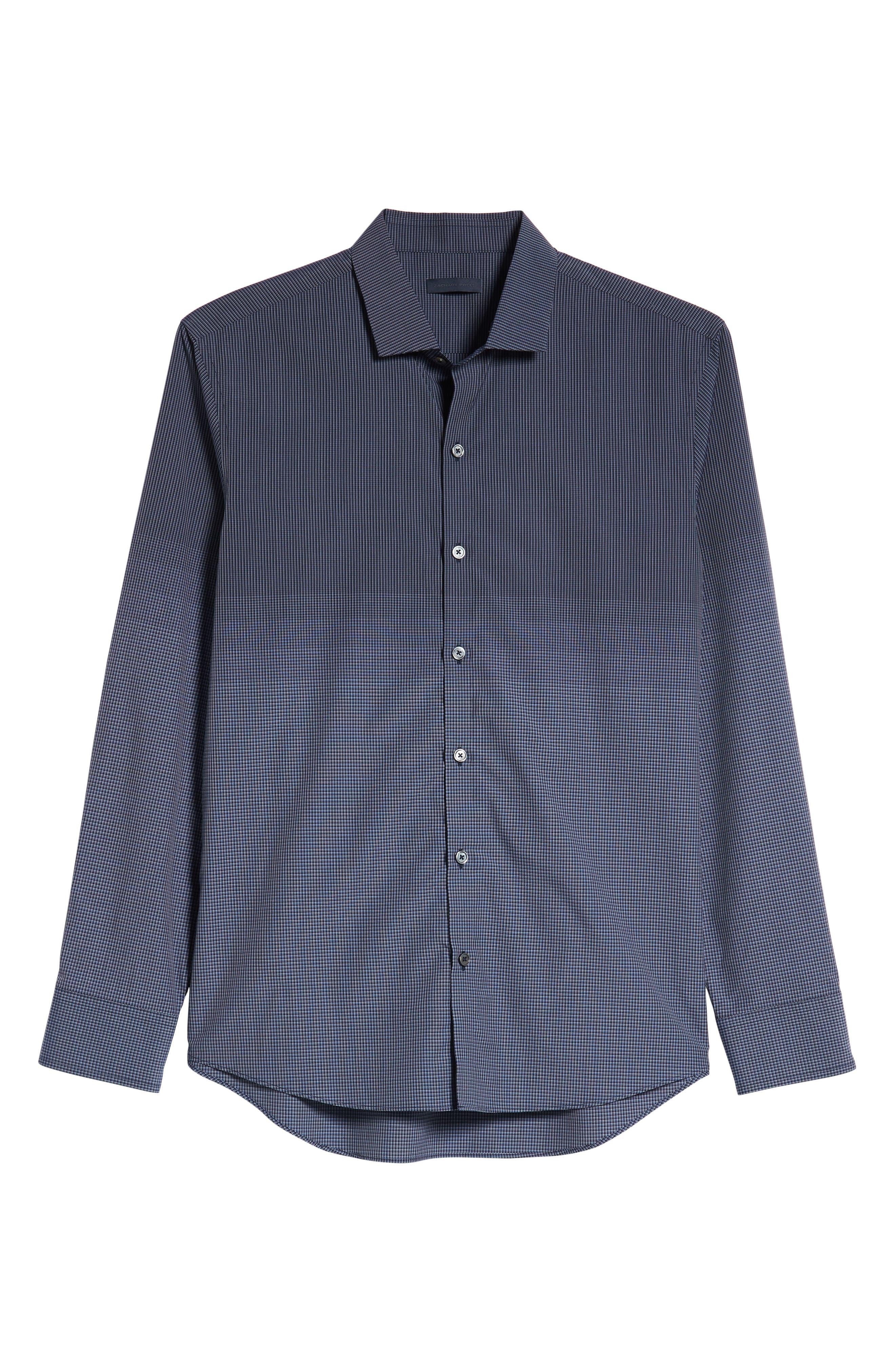 Hong Regular Fit Sport Shirt,                             Alternate thumbnail 5, color,                             NAVY
