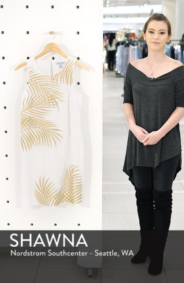 Lanailette Embroidered Shift Dress, sales video thumbnail