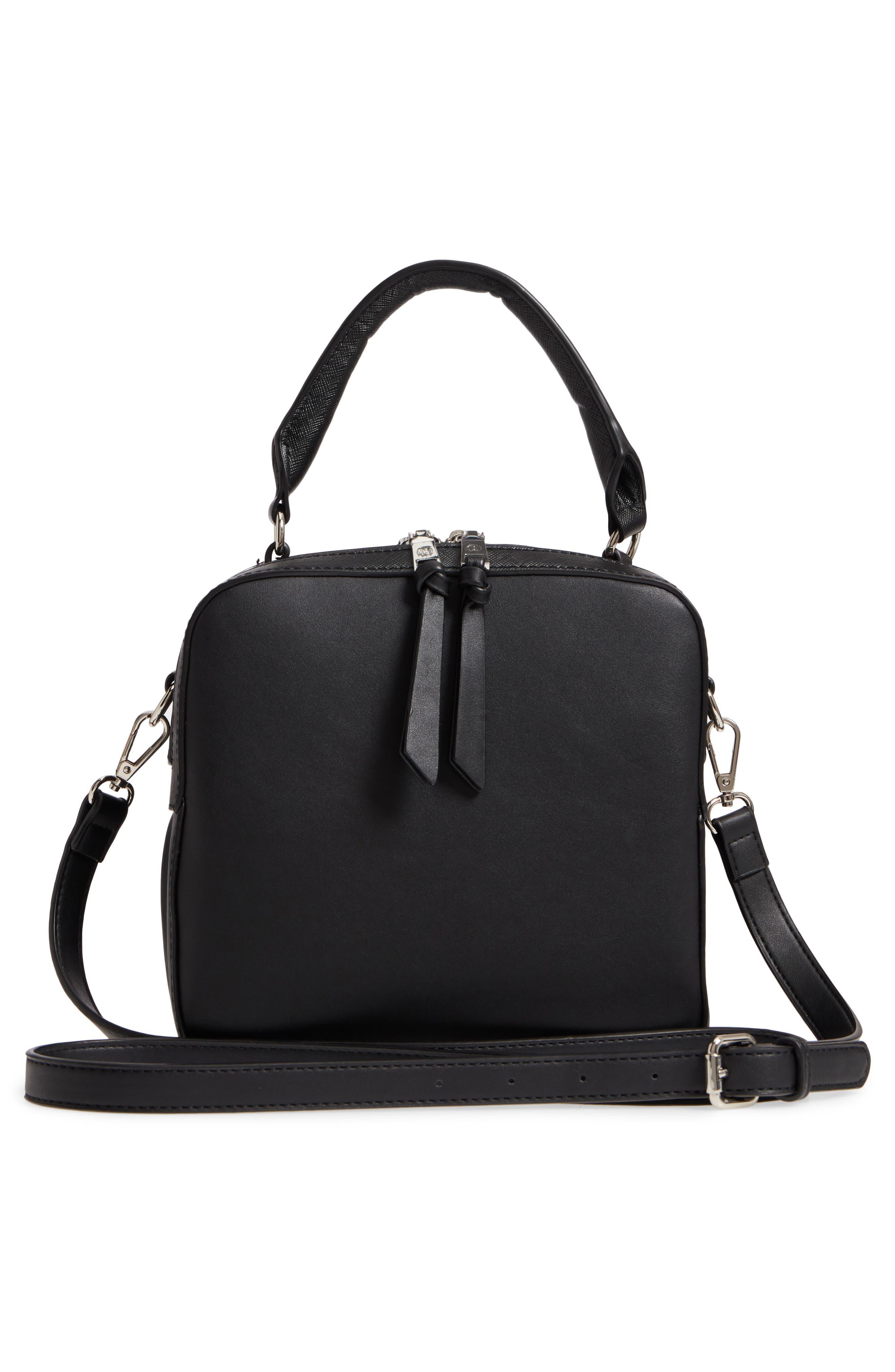 Céline Dion Motif Top Handle Leather Satchel,                             Alternate thumbnail 7, color,
