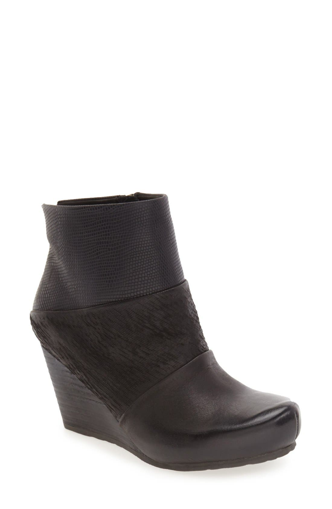 'Dharma' Wedge Bootie,                             Main thumbnail 1, color,                             001
