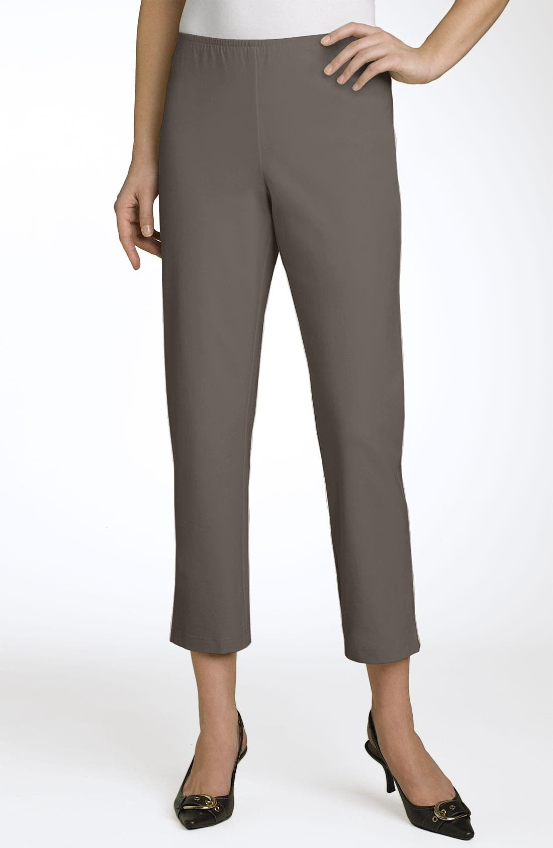 Organic Stretch Cotton Twill Ankle Pants,                             Main thumbnail 11, color,