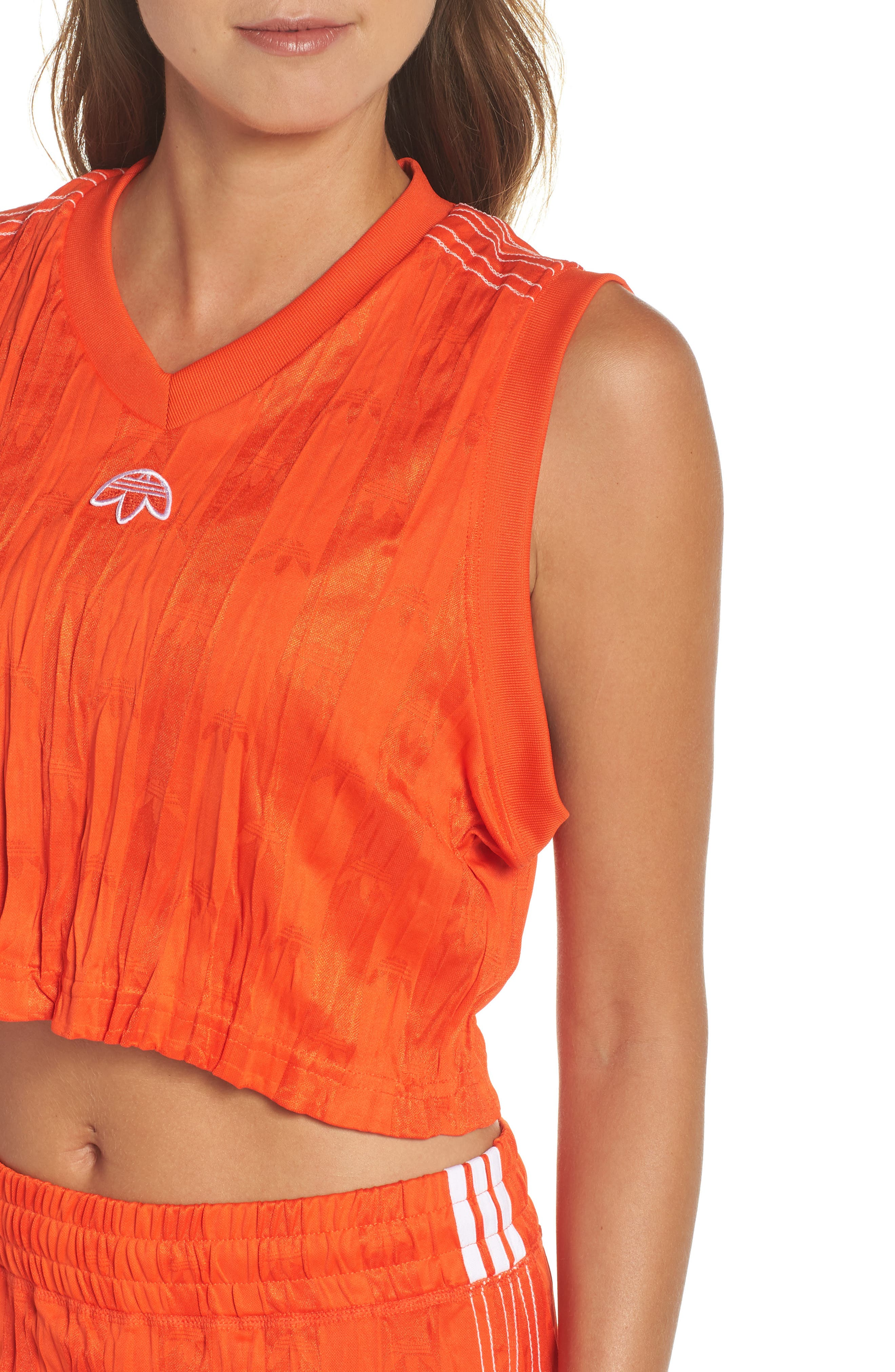 Jersey Crop Top,                             Alternate thumbnail 4, color,                             601