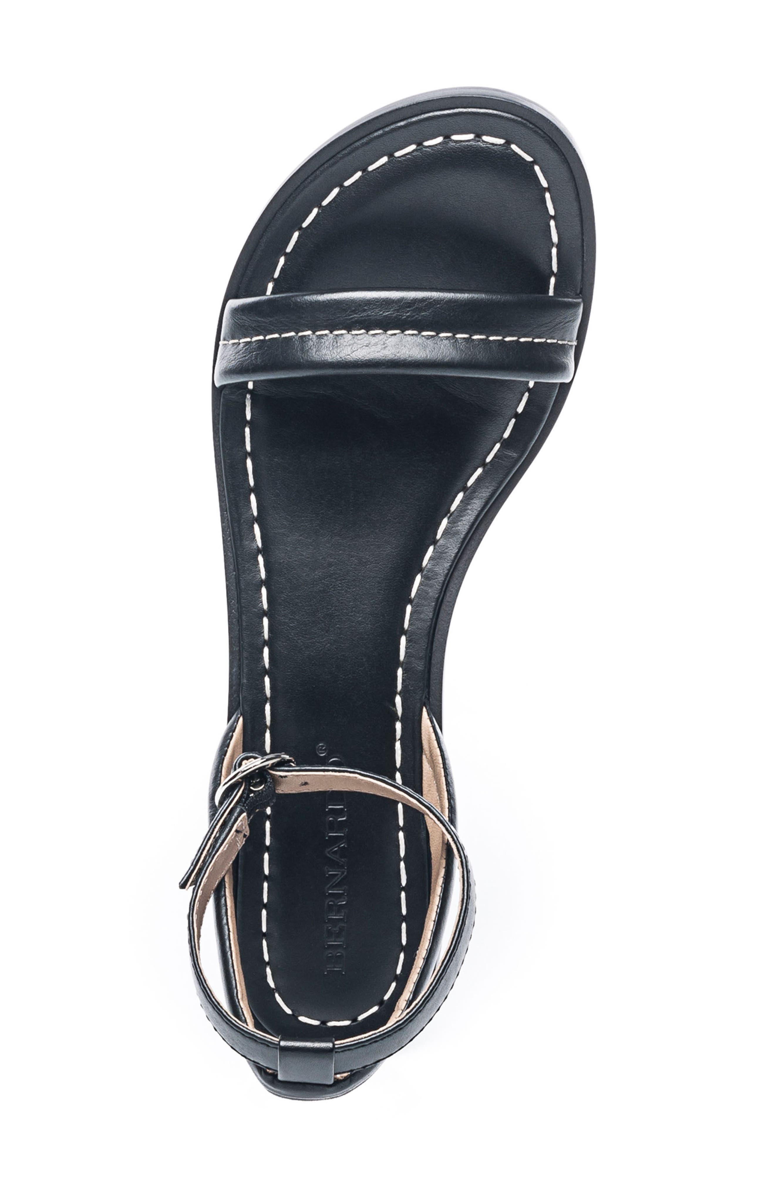 Bernardo Catherine Ankle Strap Sandal,                             Alternate thumbnail 5, color,                             BLACK ANTIQUE