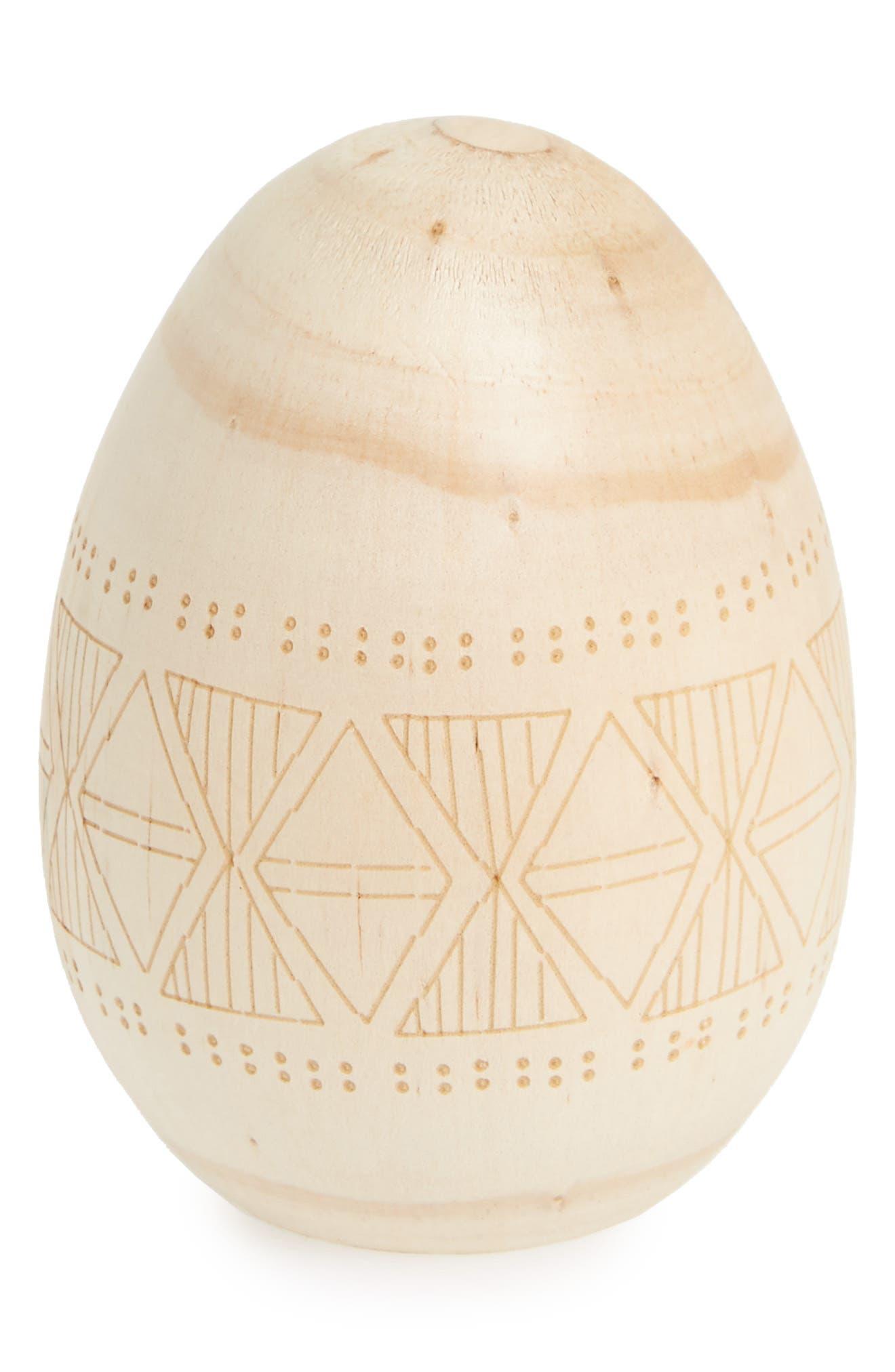 Loco Egg Carved Wooden Egg,                         Main,                         color, 200