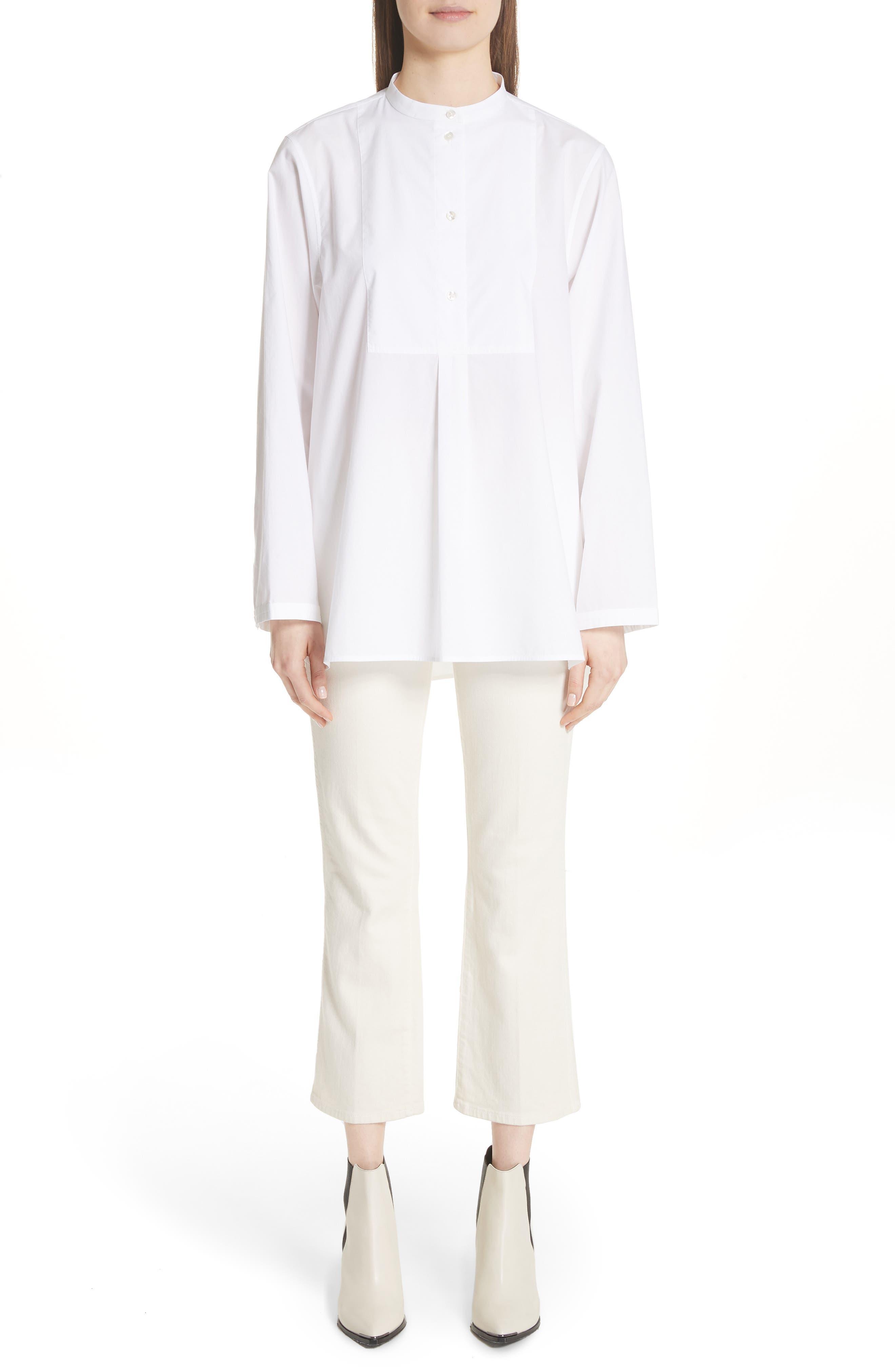 Lysanne Poplin Shirt,                             Alternate thumbnail 7, color,                             100