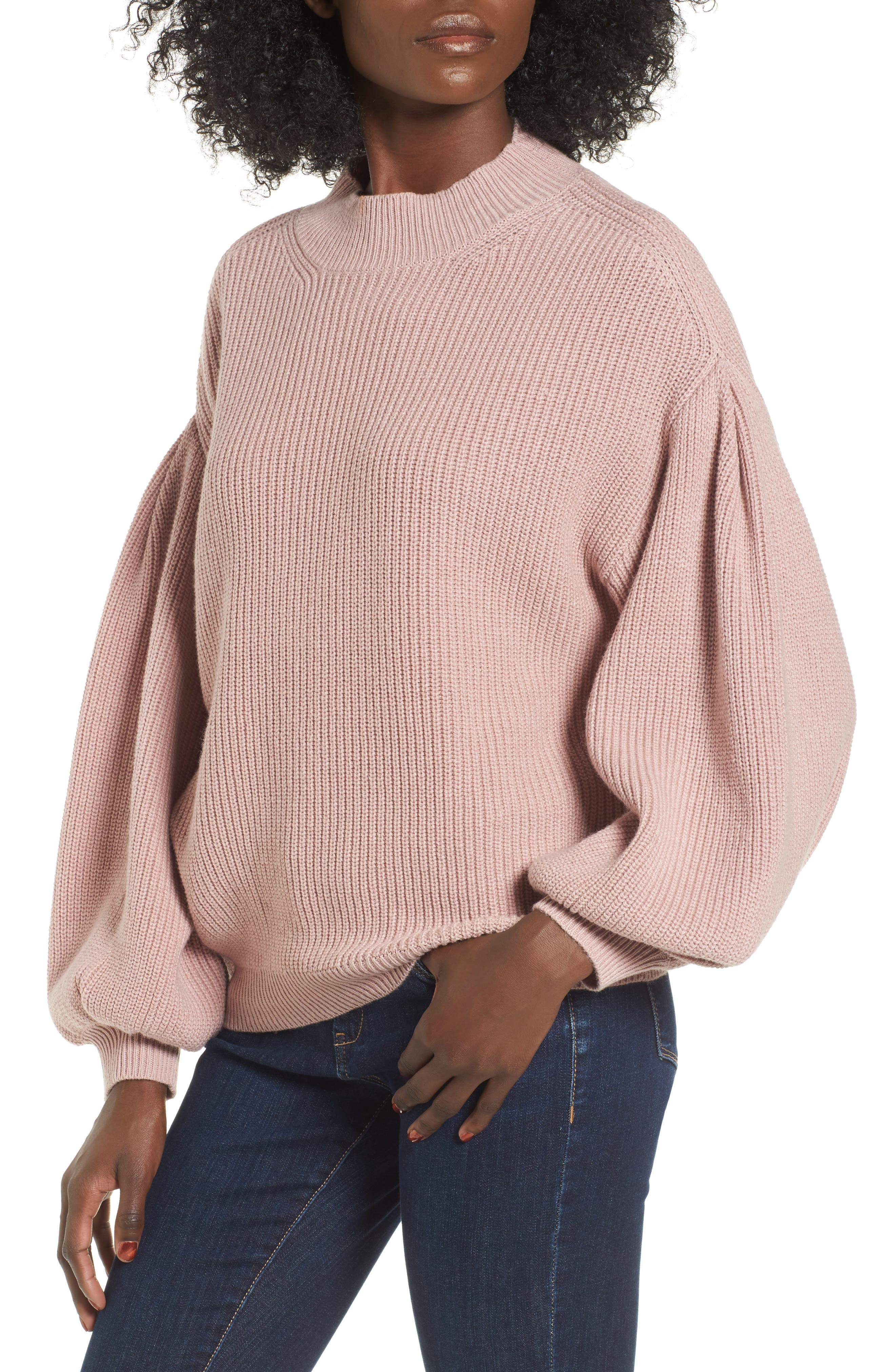 Blouson Sleeve Sweater,                             Main thumbnail 5, color,