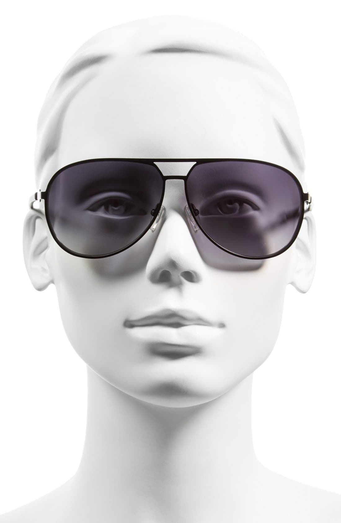 MCQ ALEXANDER MCQUEEN,                             McQ by Alexander McQueen 62mm Stainless Steel Aviator Sunglasses,                             Alternate thumbnail 2, color,                             001