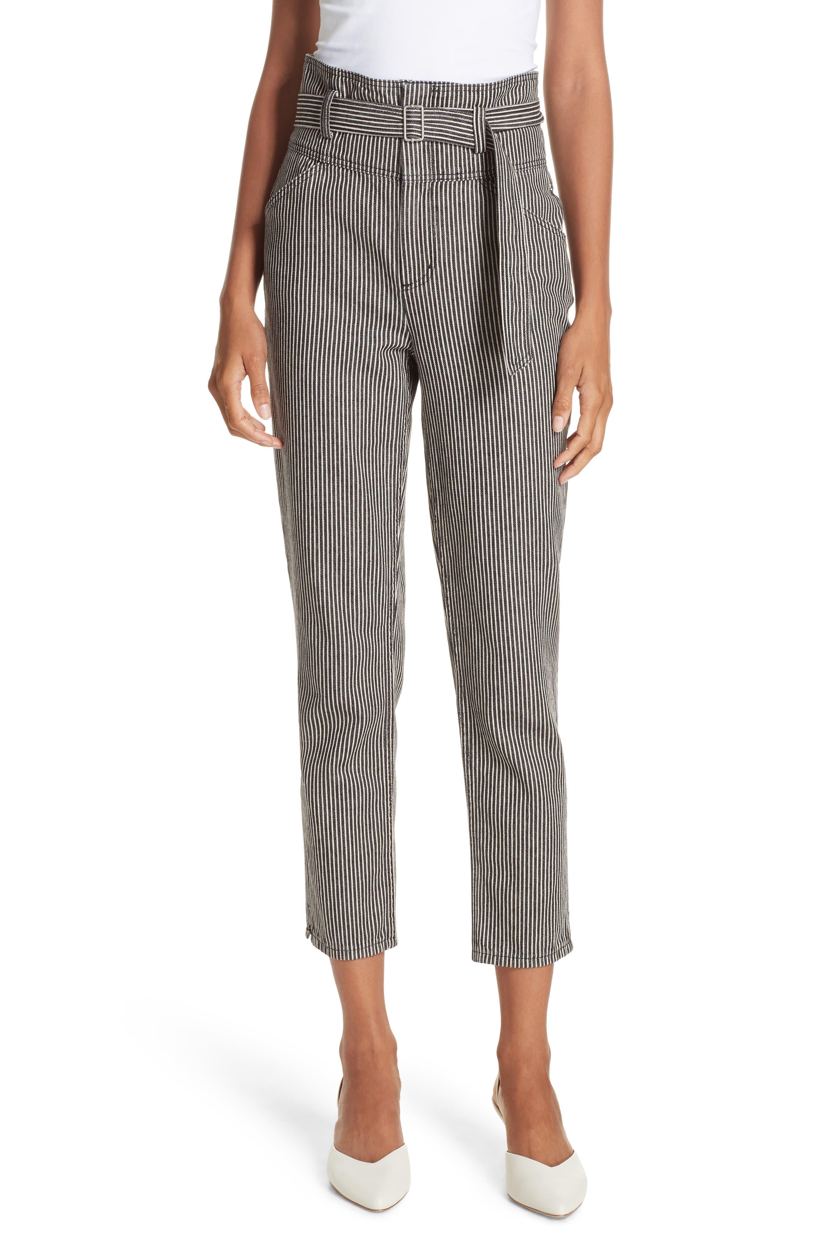 Stripe Crop Pants,                         Main,                         color, 001