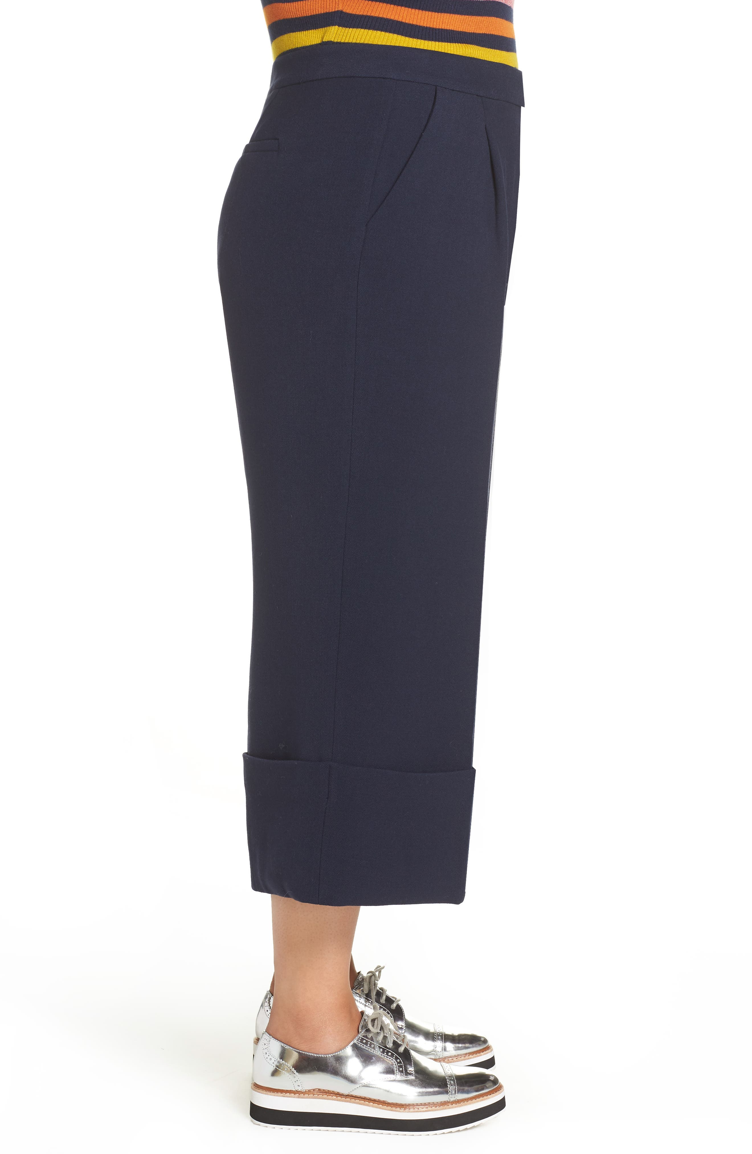 HALOGEN<SUP>®</SUP>,                             x Atlantic-Pacific High Waist Wide Cuff Ankle Pants,                             Alternate thumbnail 3, color,                             410