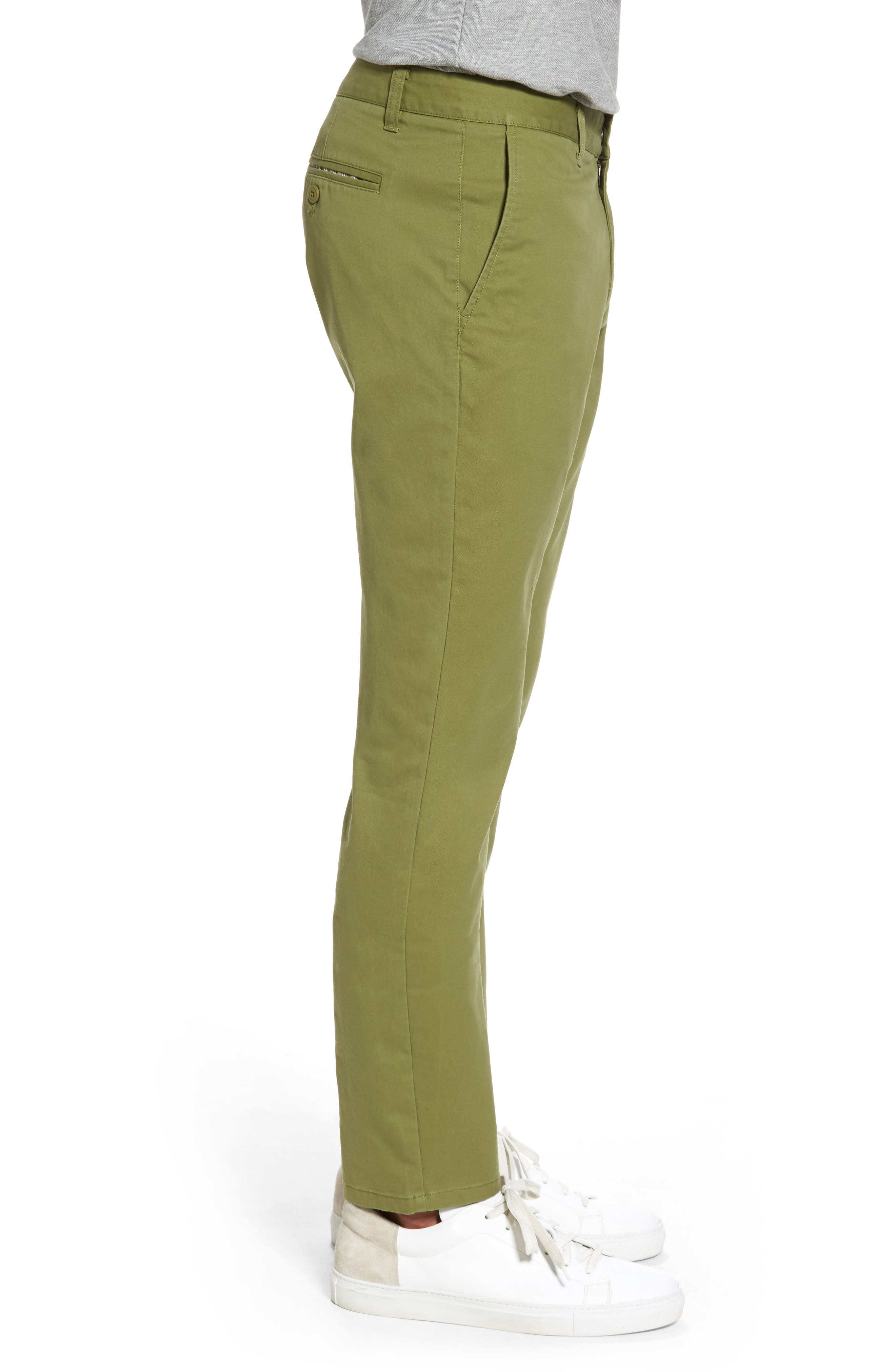 Tailored Fit Washed Stretch Cotton Chinos,                             Alternate thumbnail 77, color,