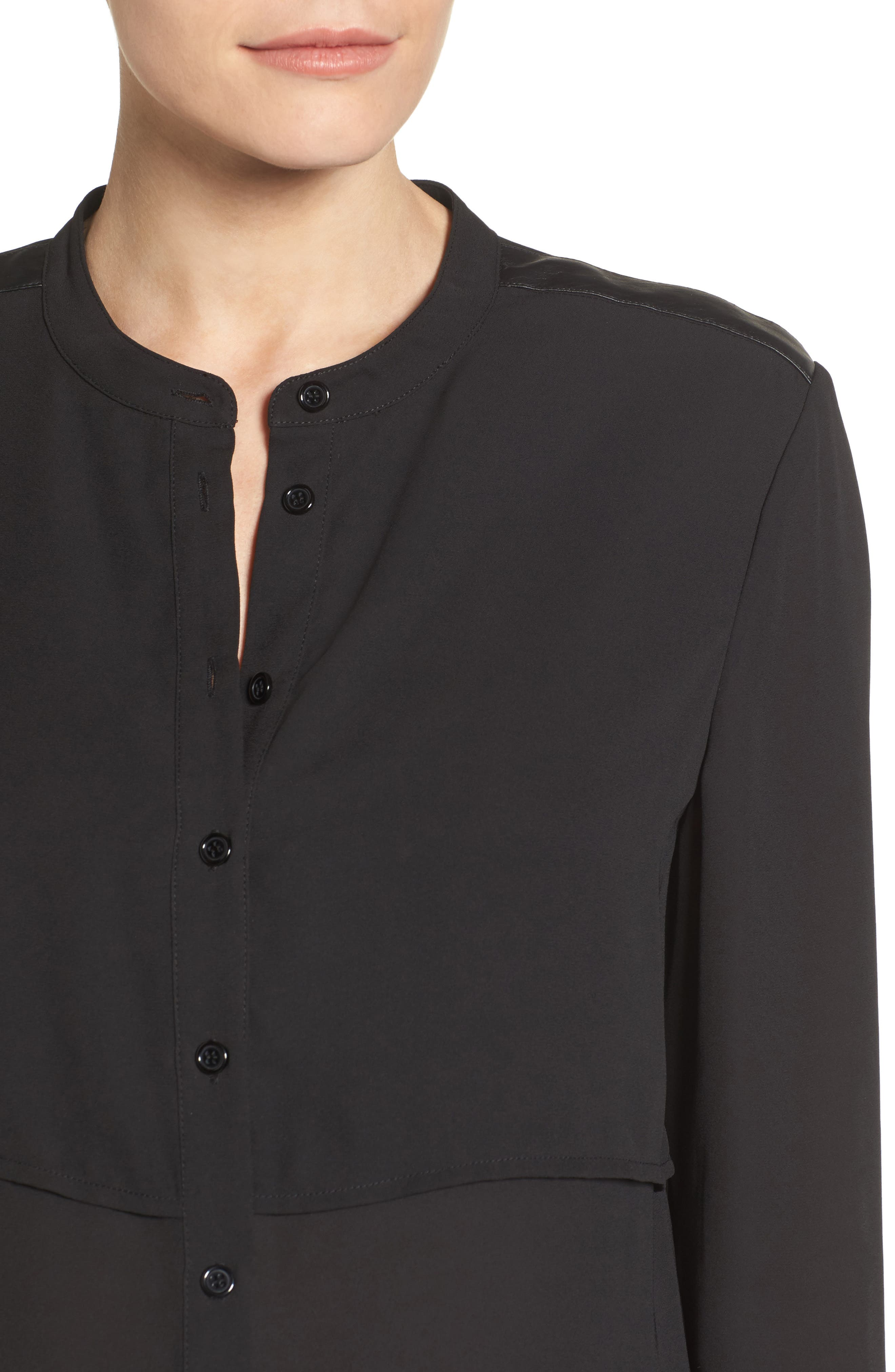 Jenni Maternity/Nursing Shirt,                             Alternate thumbnail 4, color,                             BLACK