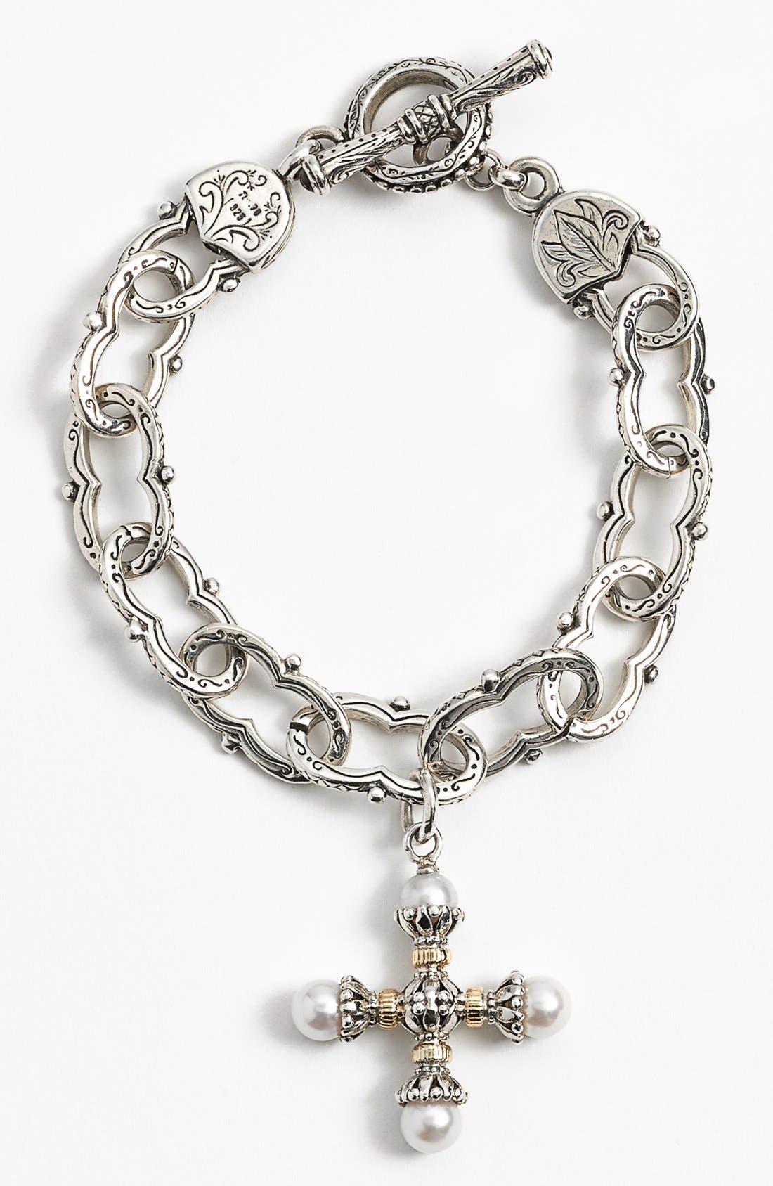 'Classics' Pearl Maltese Cross Pendant,                         Main,                         color,
