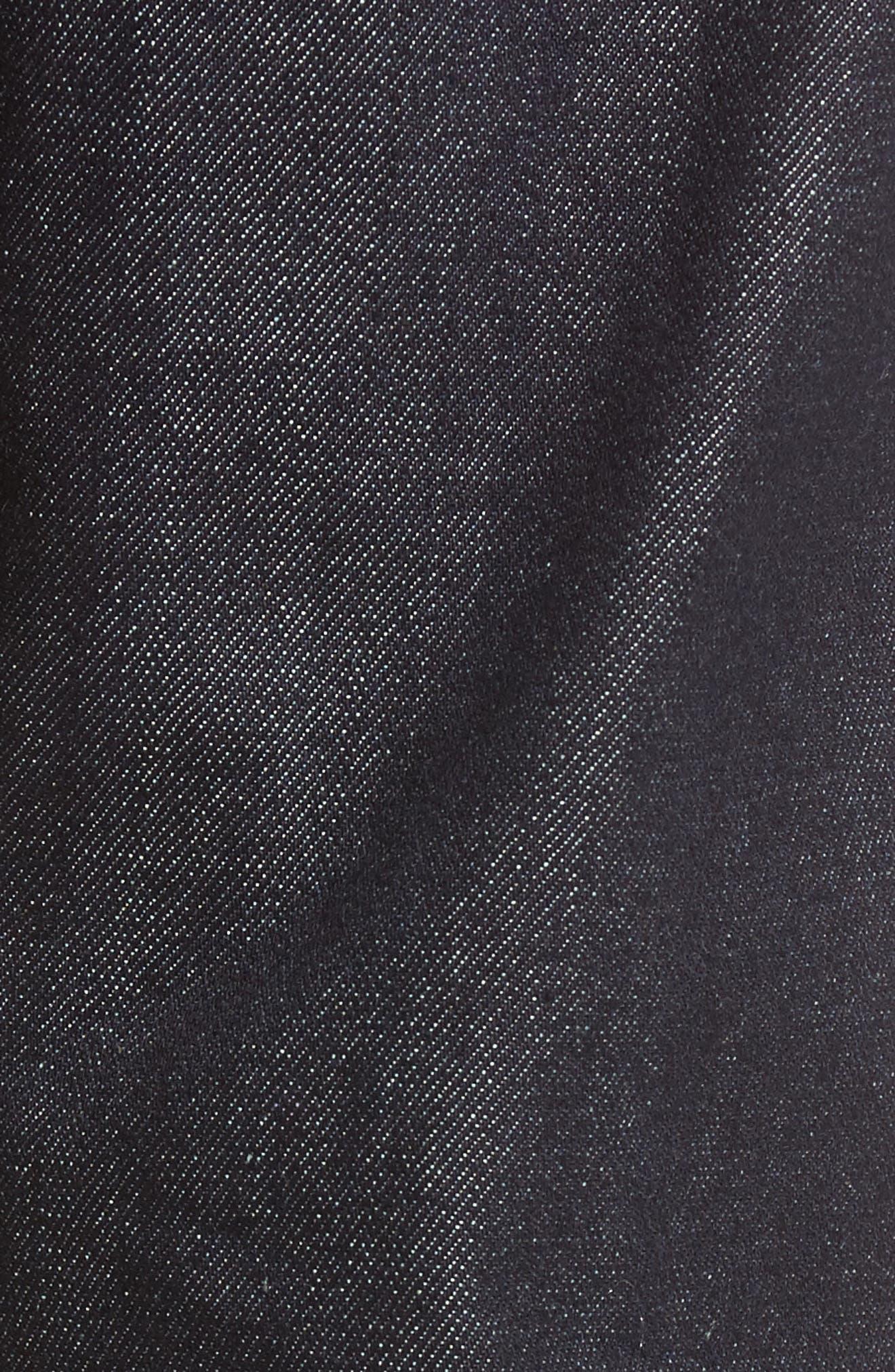 UB301 Straight Leg Raw Selvedge Jeans,                             Alternate thumbnail 6, color,                             INDIGO