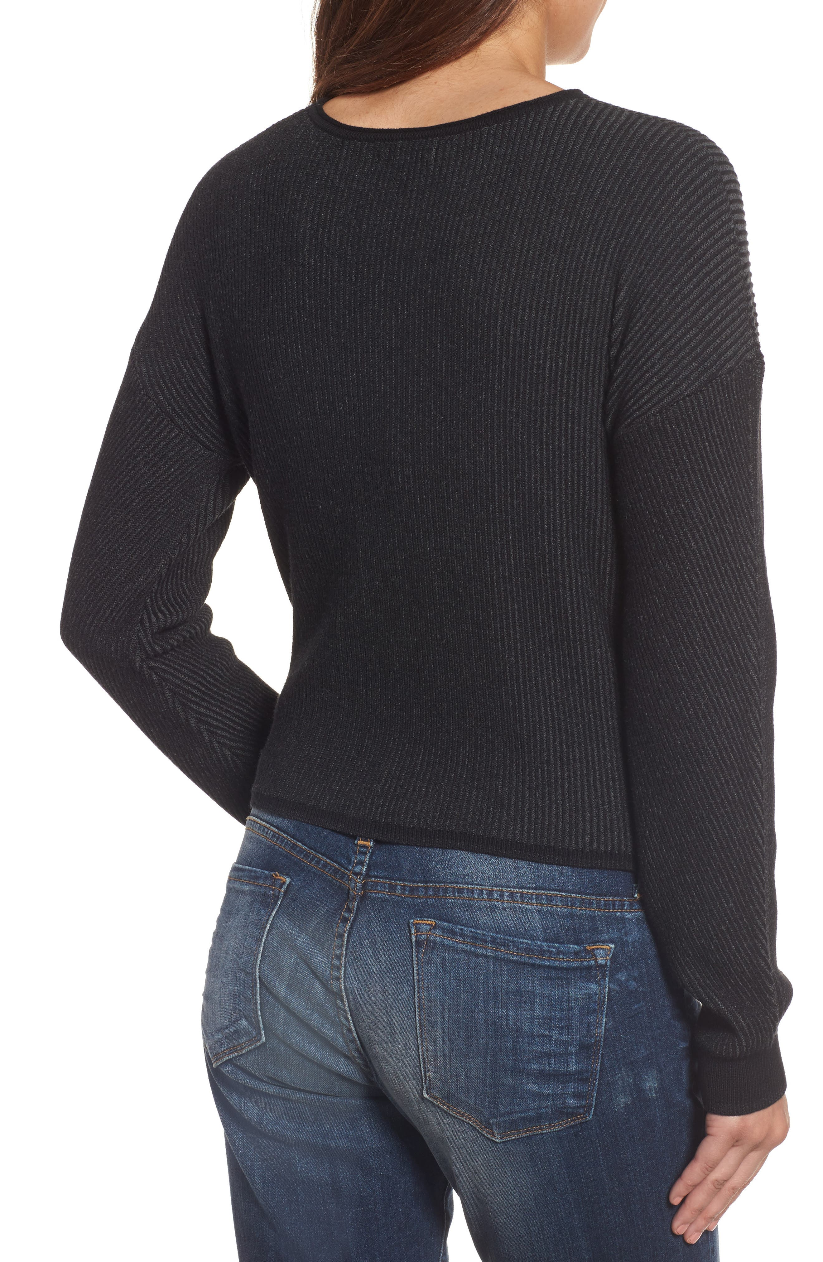Tie Front Sweater,                             Alternate thumbnail 2, color,                             010