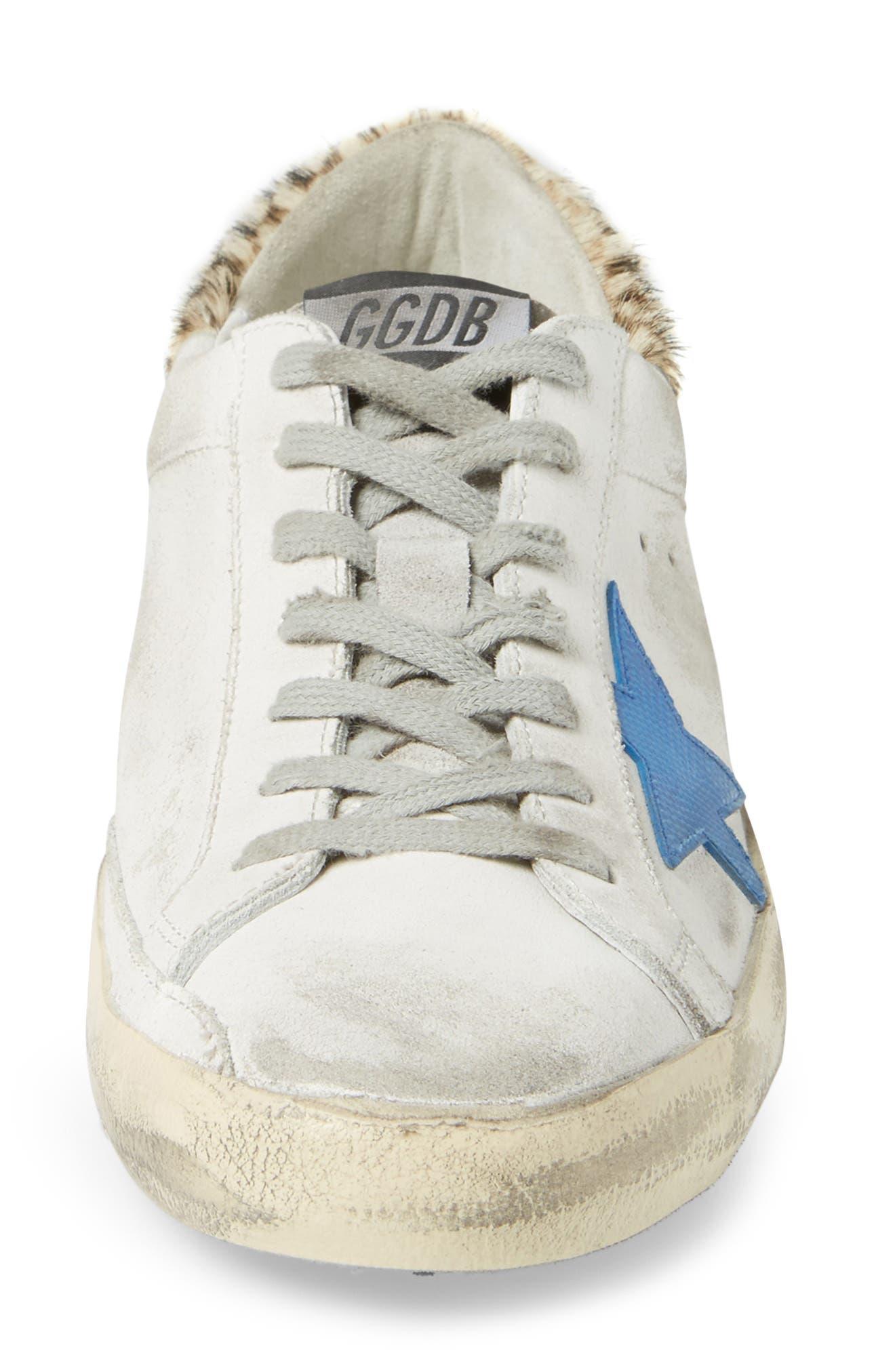 Superstar Sneaker with Genuine Calf Hair Trim,                             Alternate thumbnail 4, color,