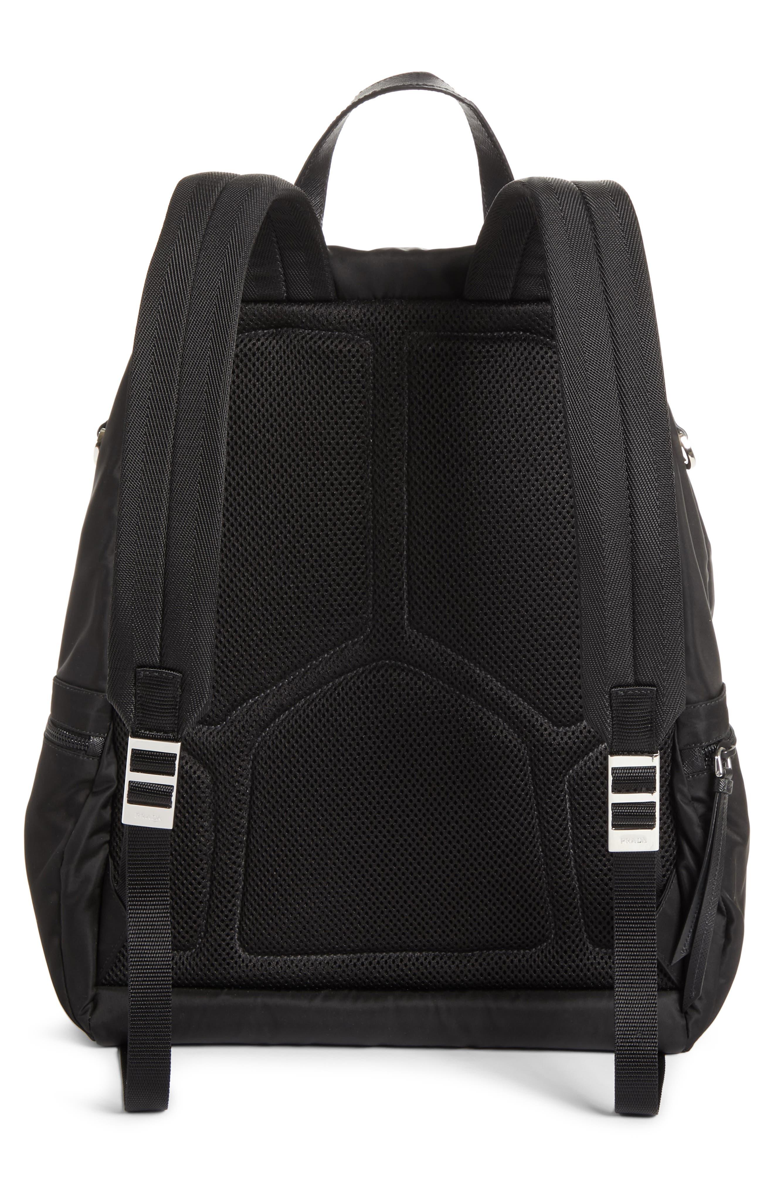 Tessuto Camo Patch Nylon Backpack,                             Alternate thumbnail 3, color,                             CAMO
