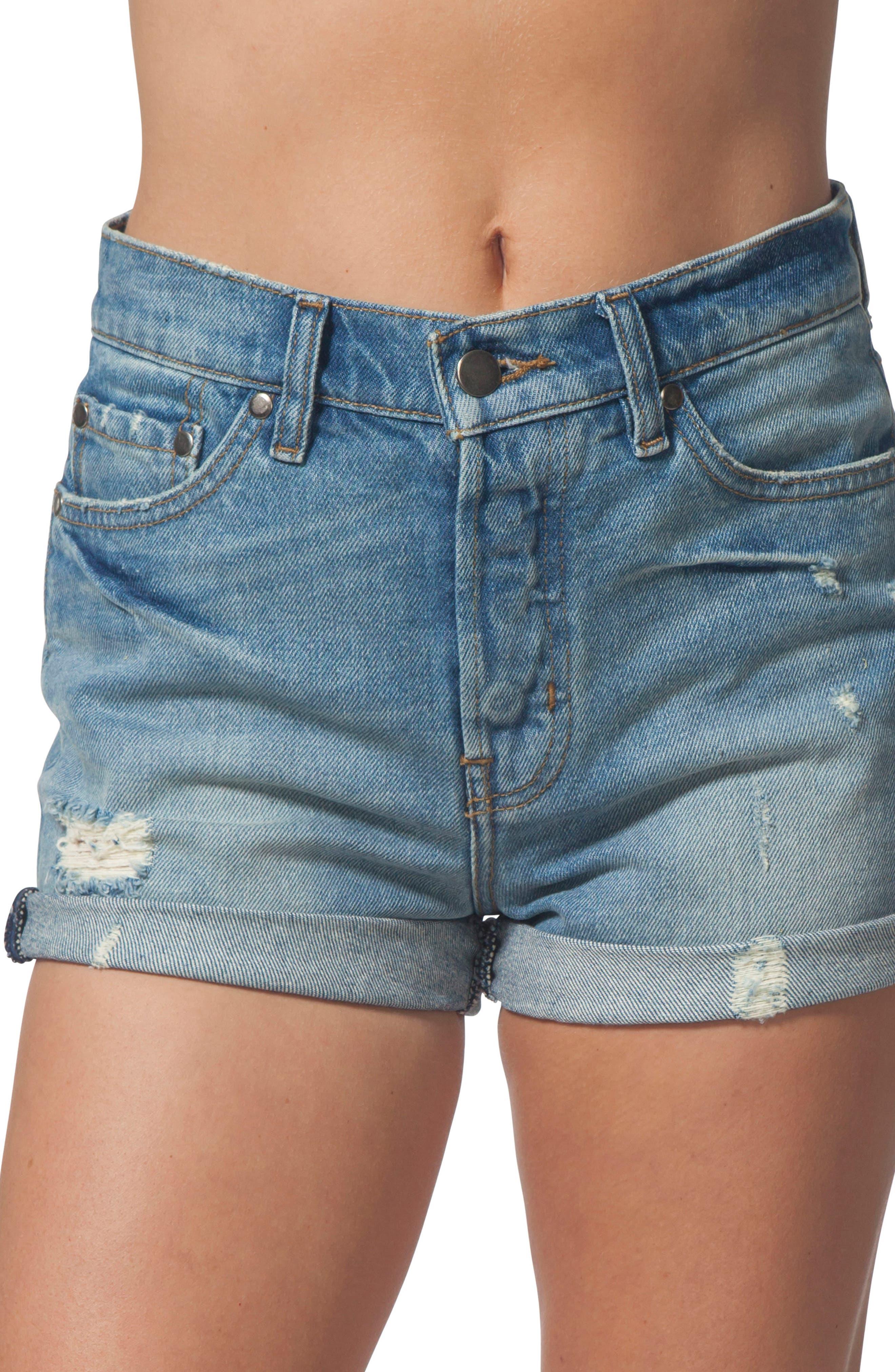 River Denim Shorts,                         Main,                         color, 400
