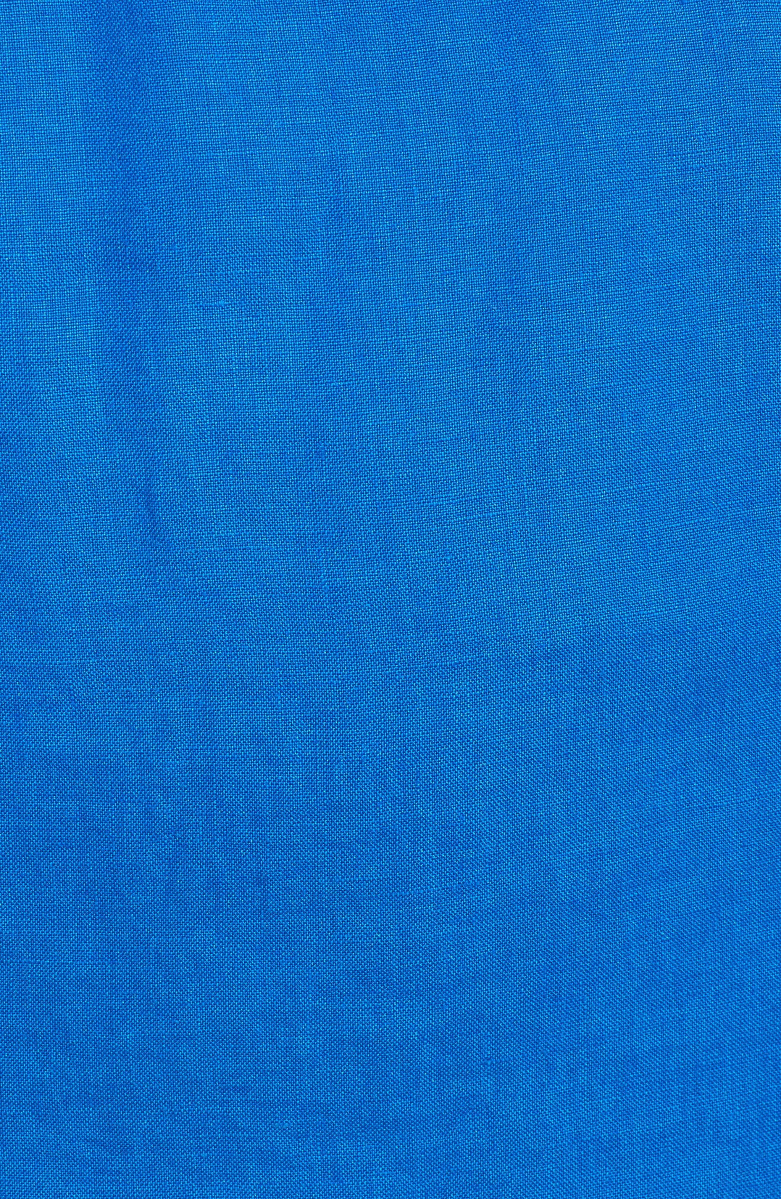 'Two Palms' Linen Raw Edge Jacket,                             Alternate thumbnail 7, color,                             COBALT