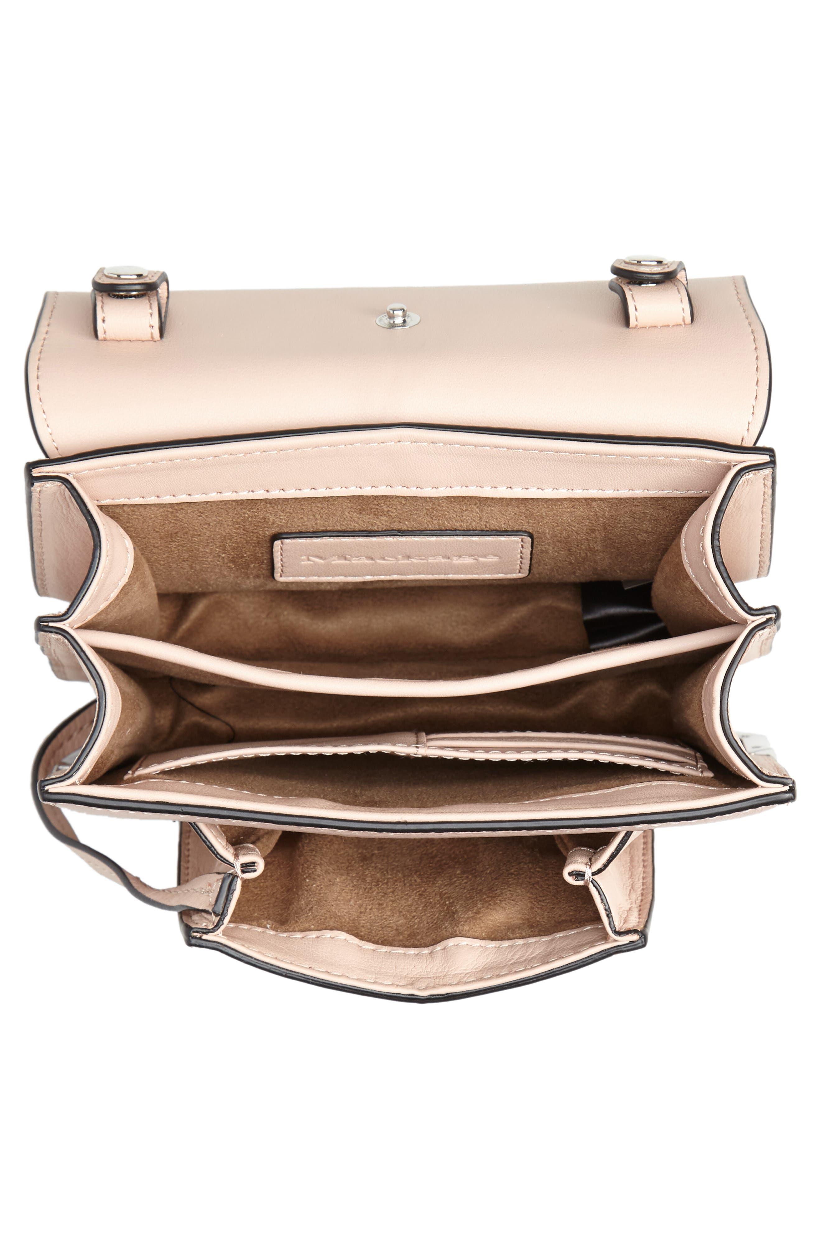 Mini Rubie Leather Shoulder Bag,                             Alternate thumbnail 4, color,                             PETAL/ GUNMETAL