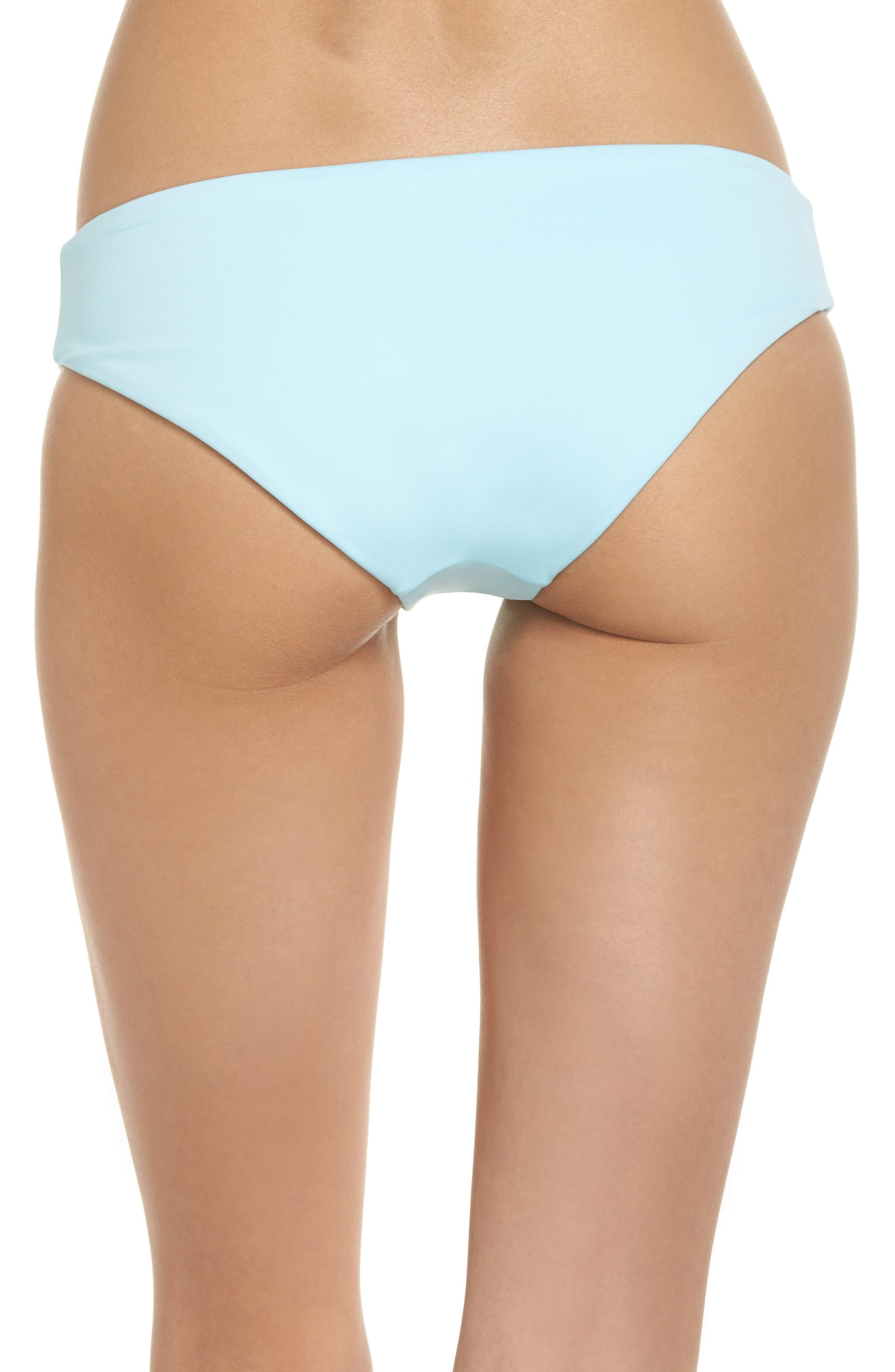 Crystal Blue Sublime Signature Reversible Bikini Bottoms,                             Alternate thumbnail 3, color,                             450