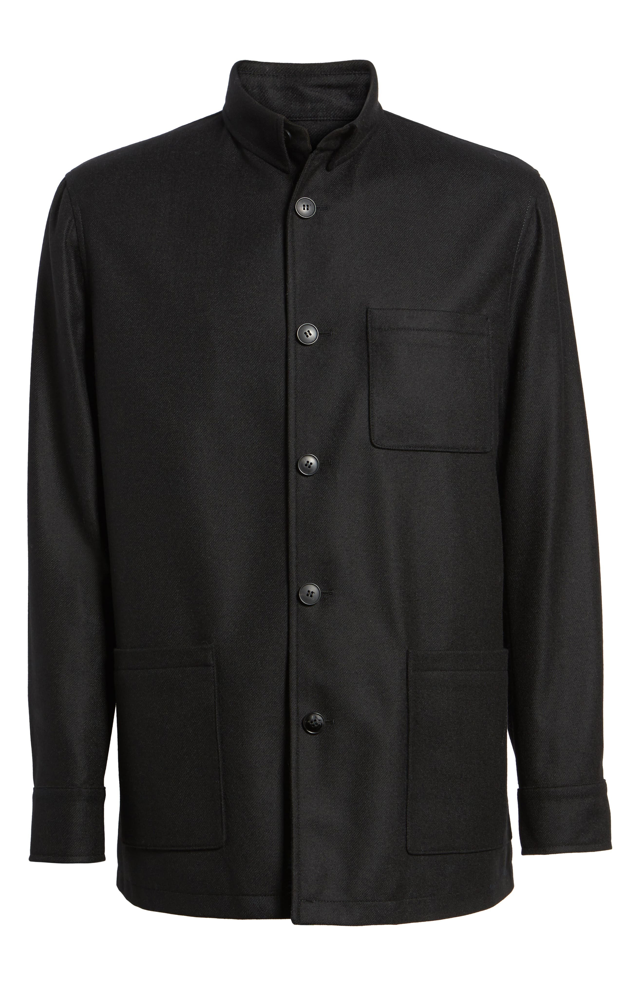 Loro Piana Storm System Shirt Jacket,                             Alternate thumbnail 5, color,                             002