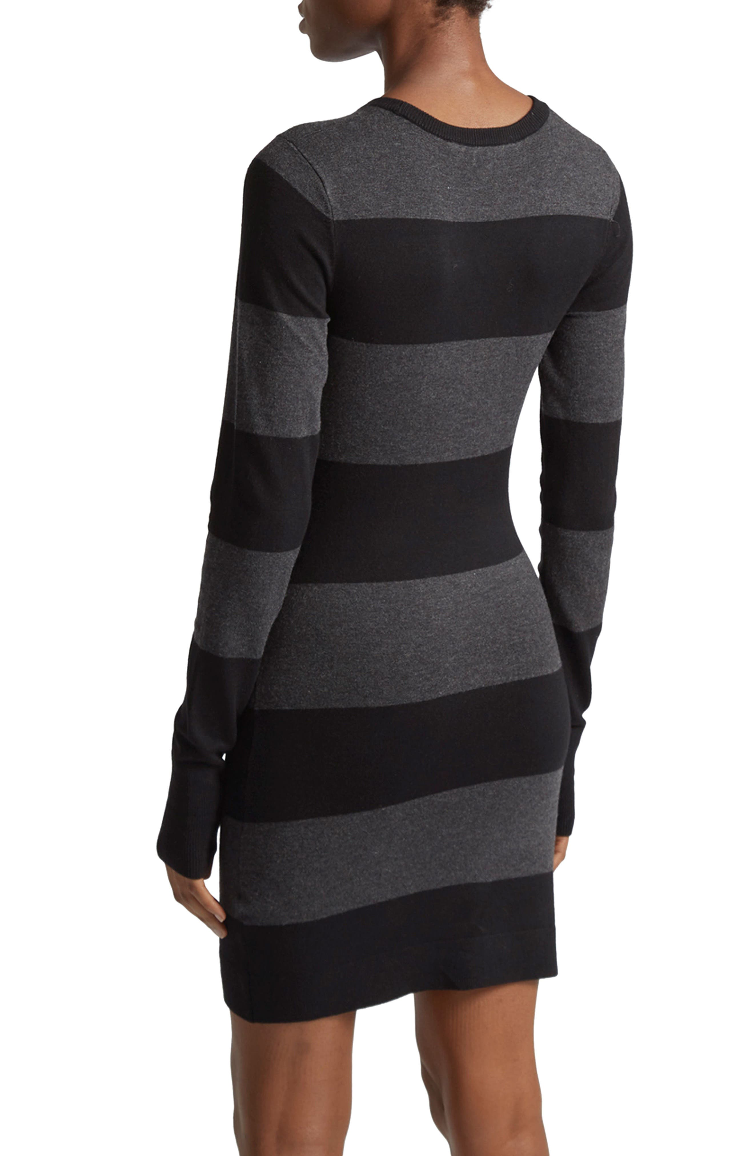 Rugby Stripe T-Shirt Dress,                             Alternate thumbnail 2, color,                             028