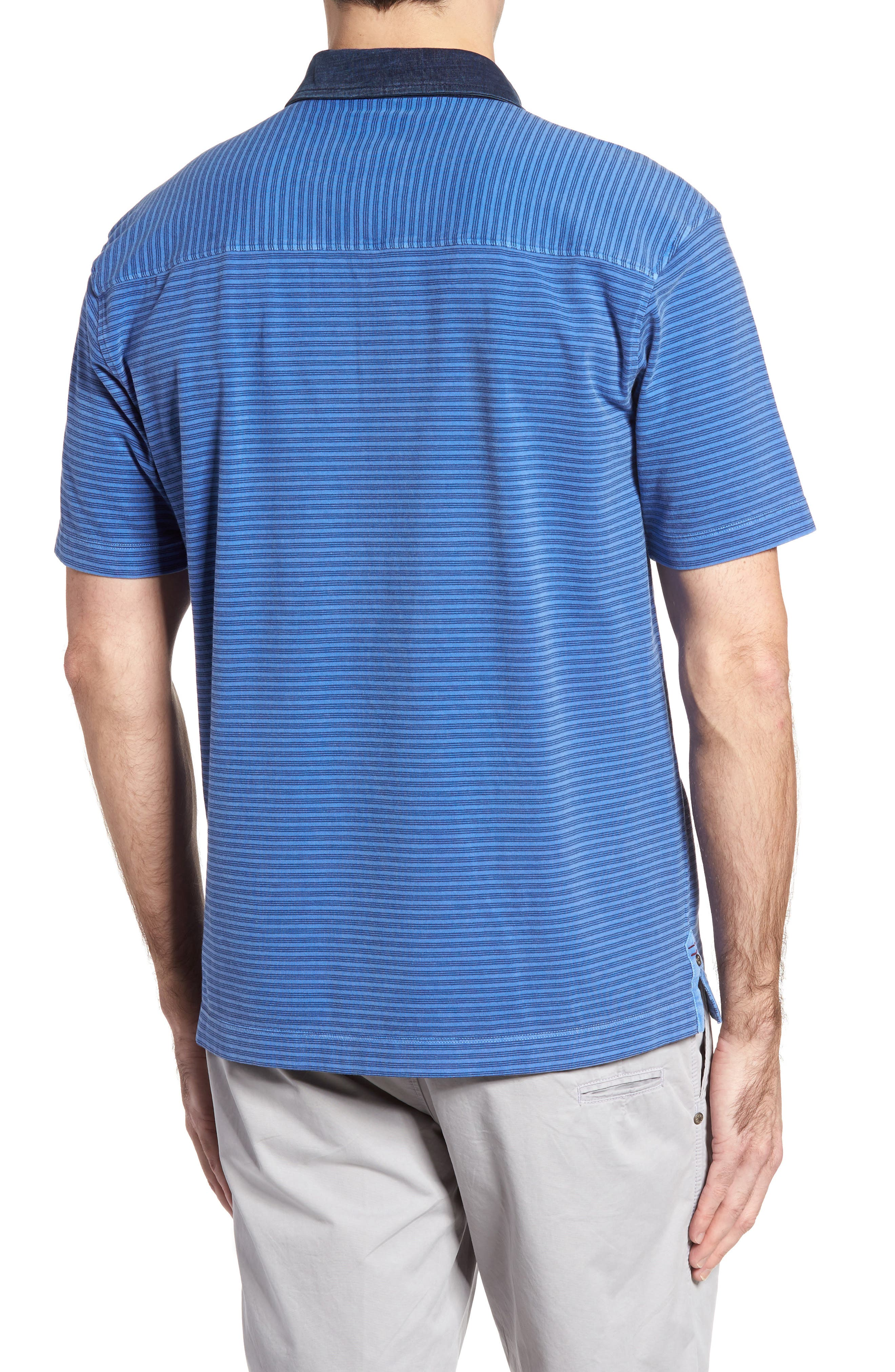 Ivan Stripe Stretch Jersey Polo,                             Alternate thumbnail 2, color,                             436