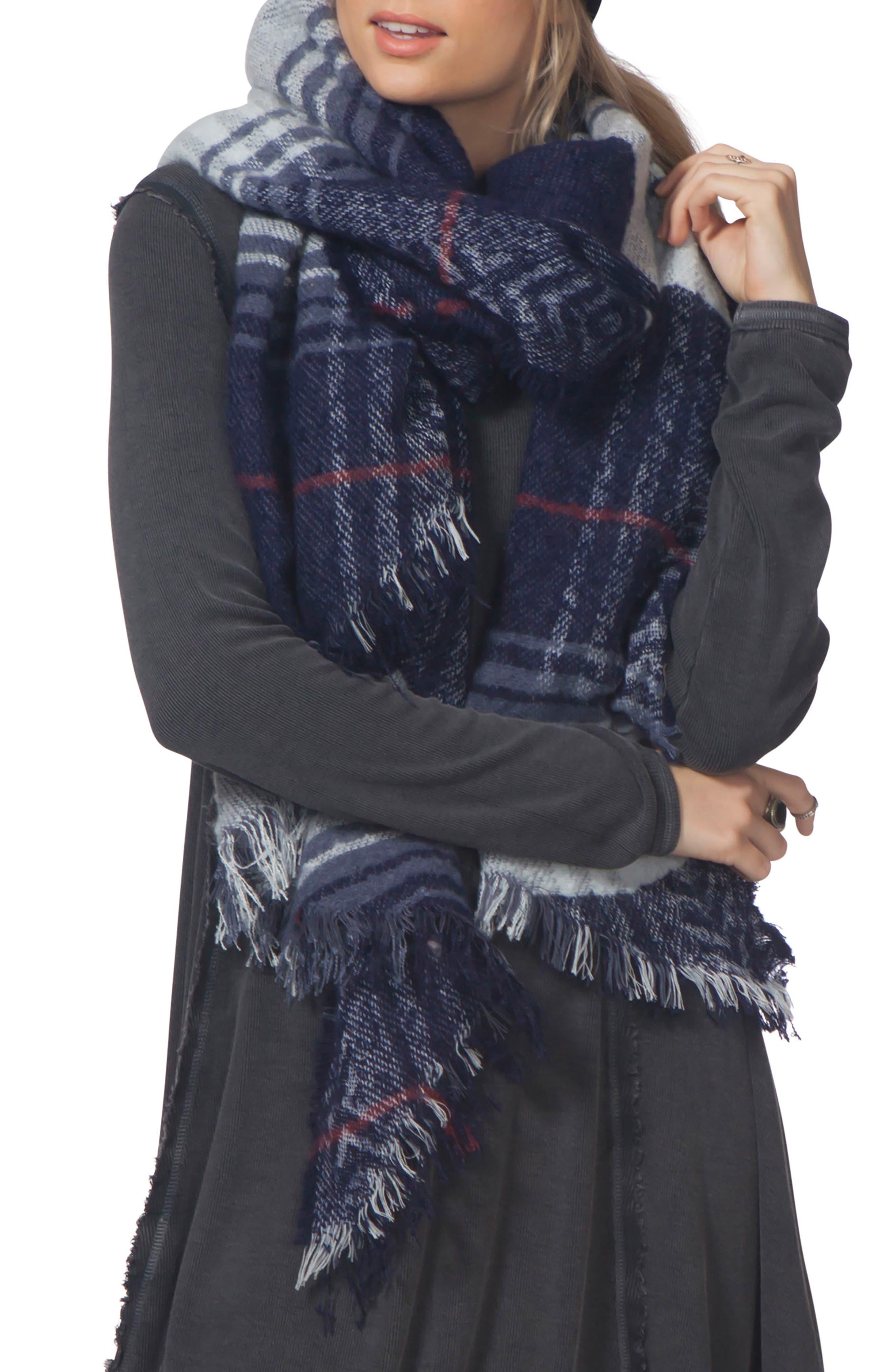 London Blanket Scarf,                         Main,                         color, 400