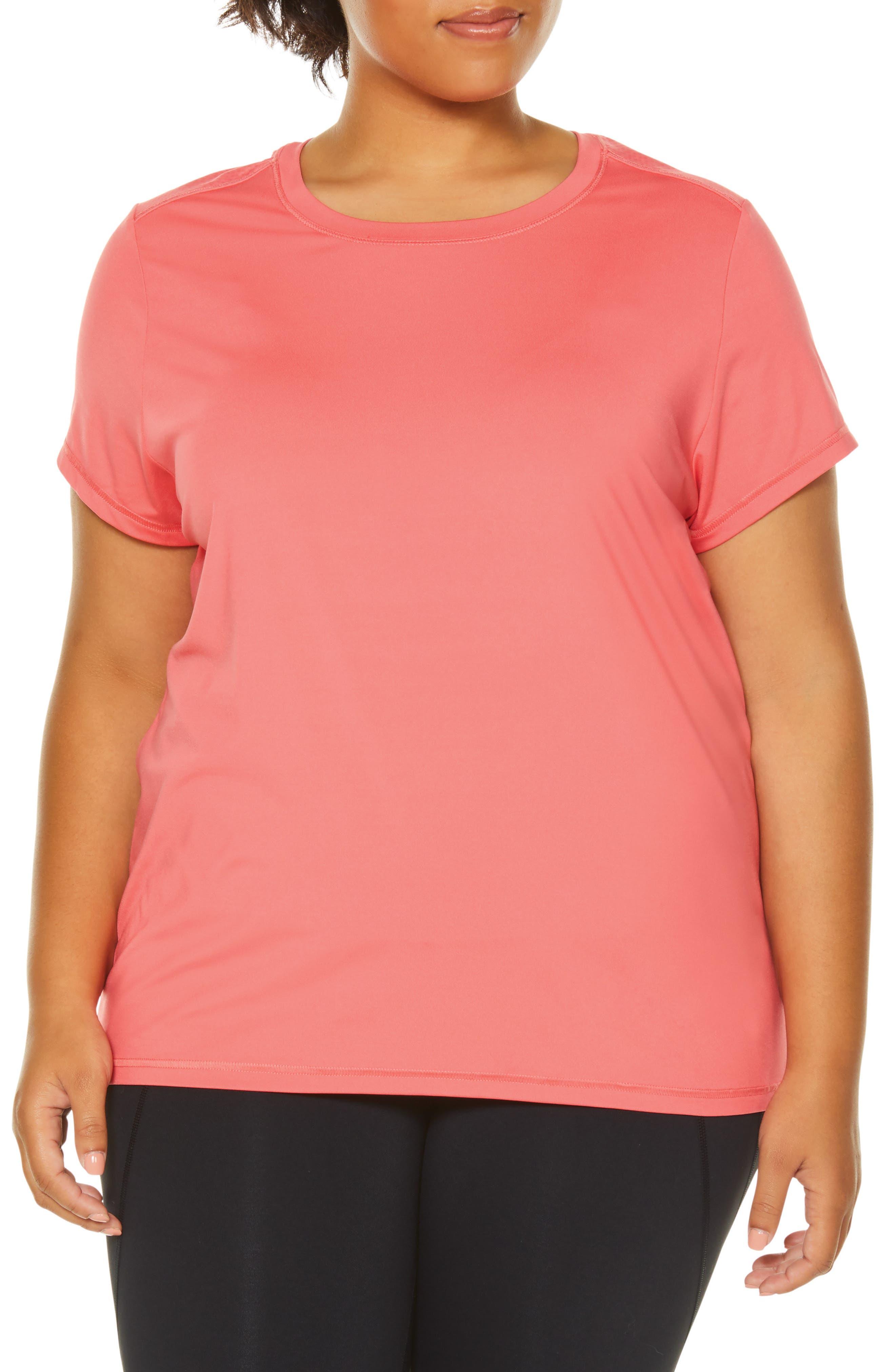 Plus Size Shape Activewear Wishbone Tee, Coral