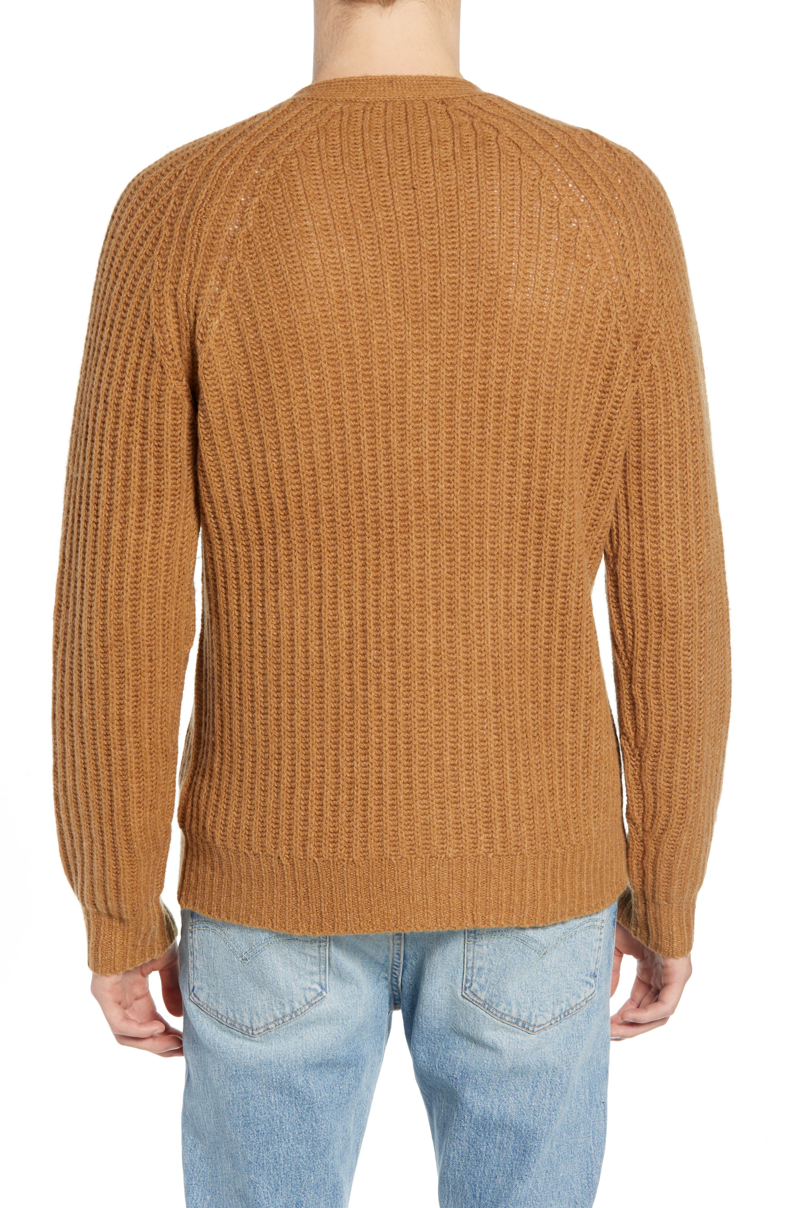Supersoft Wool Blend Cardigan,                             Alternate thumbnail 2, color,                             RICH CAMEL