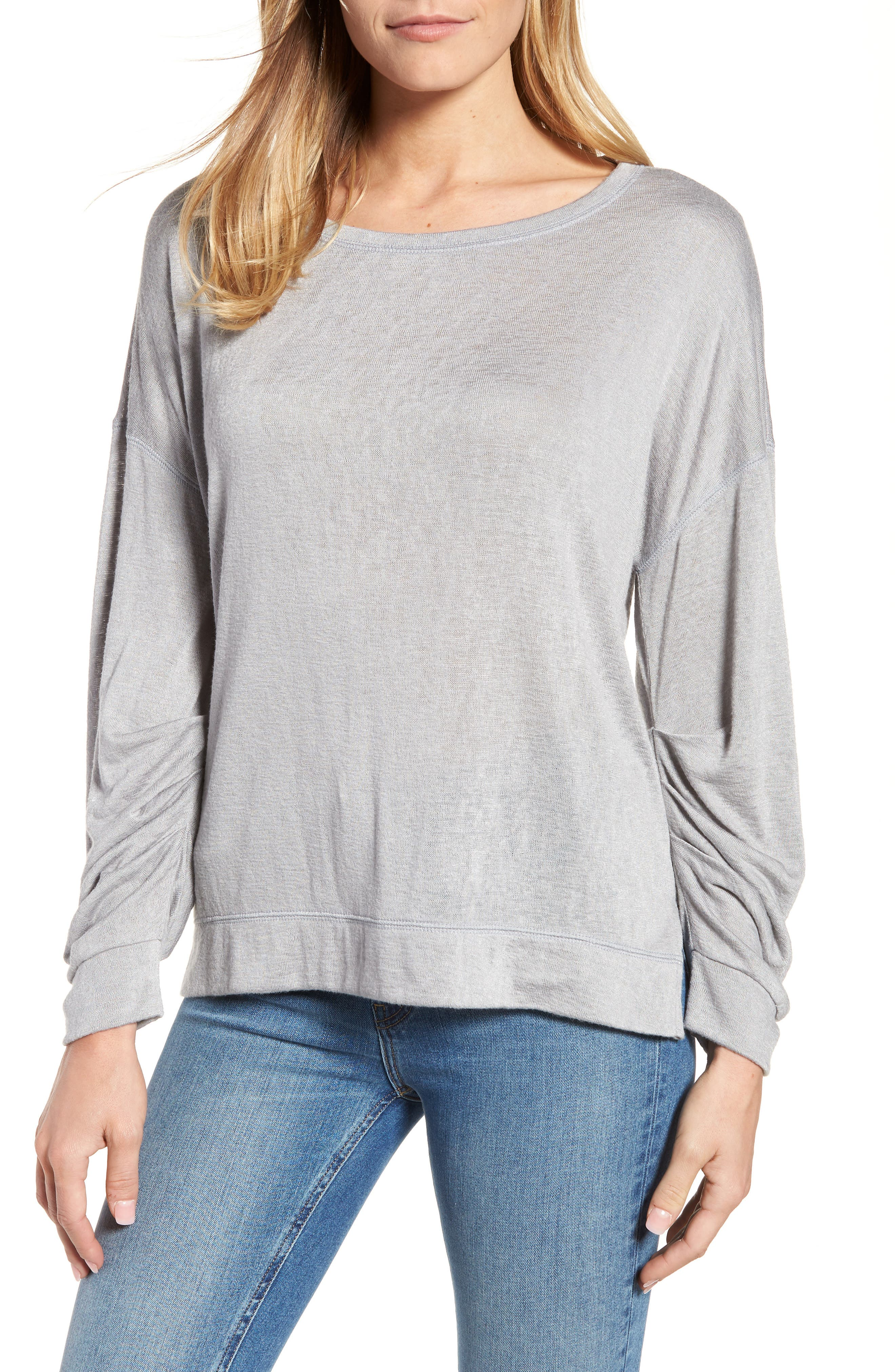 Tuck Sleeve Sweatshirt,                             Main thumbnail 2, color,