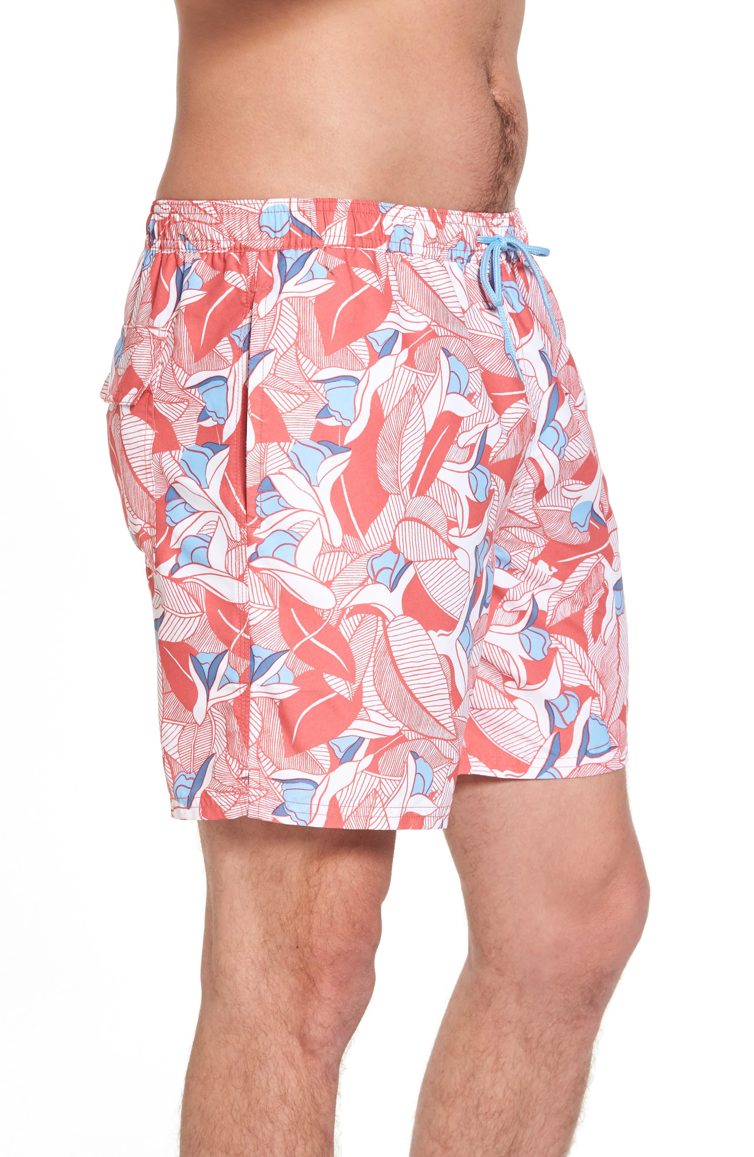 Chappy Floral Swim Trunks,                             Alternate thumbnail 3, color,                             628