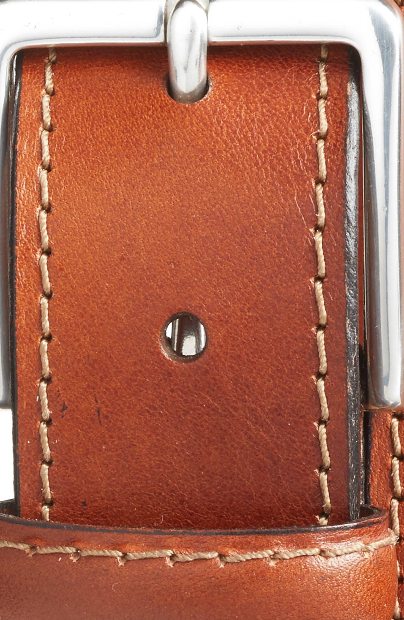 The Franco Leather Belt,                             Alternate thumbnail 3, color,                             AMBER