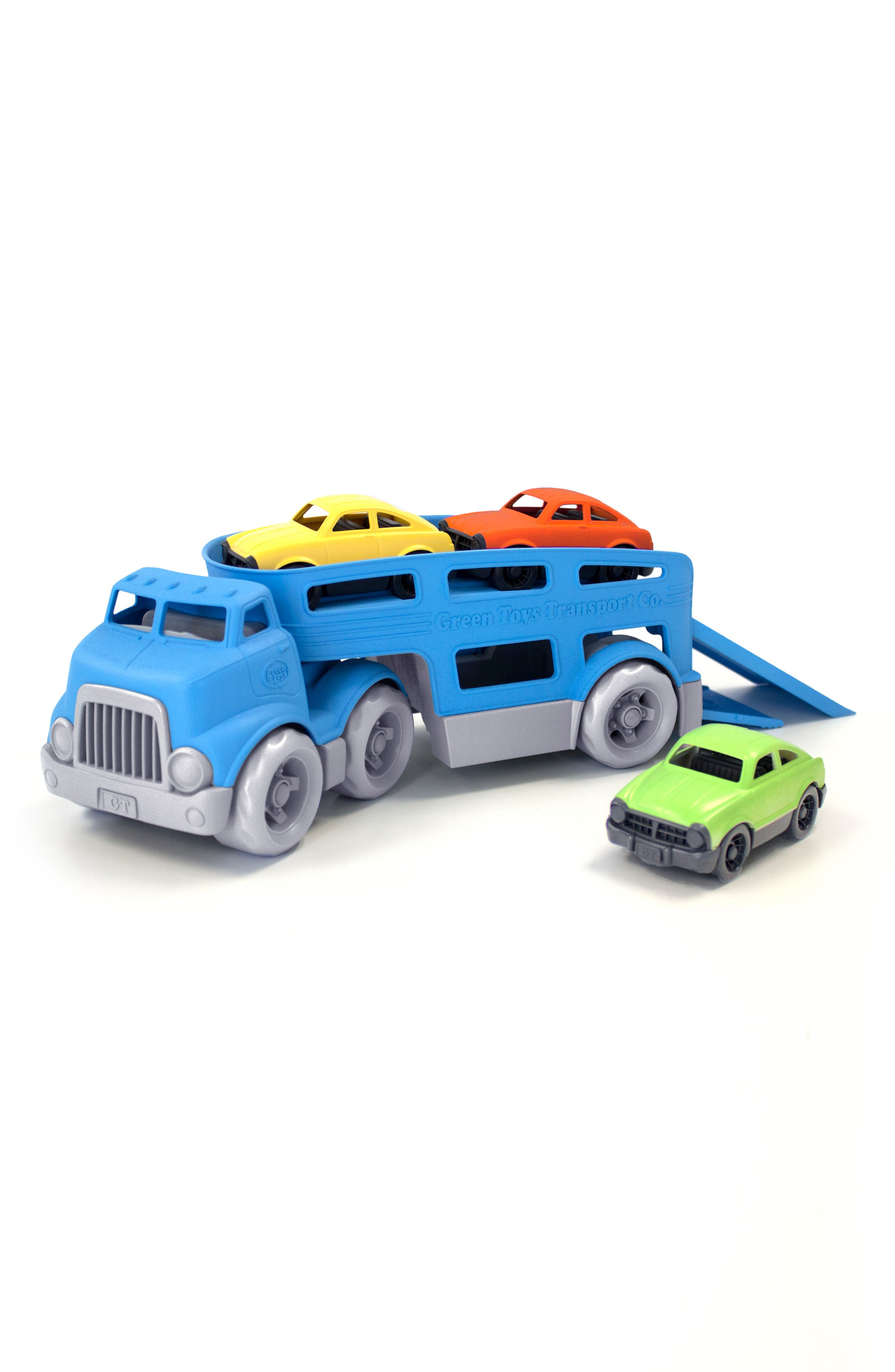 4-Piece Car Carrier,                         Main,                         color, BLUE